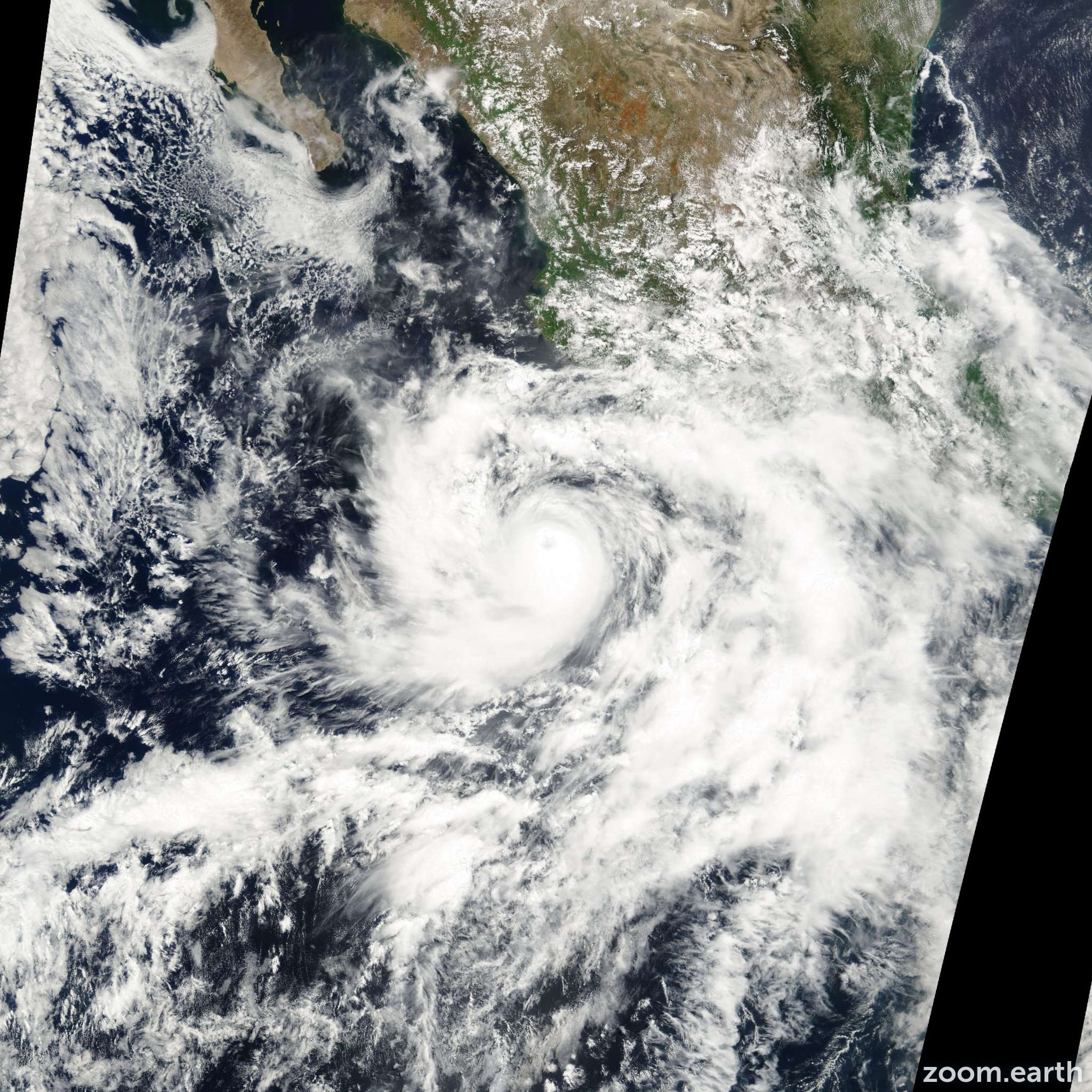 Satellite image of Hurricane Carlotta 2000