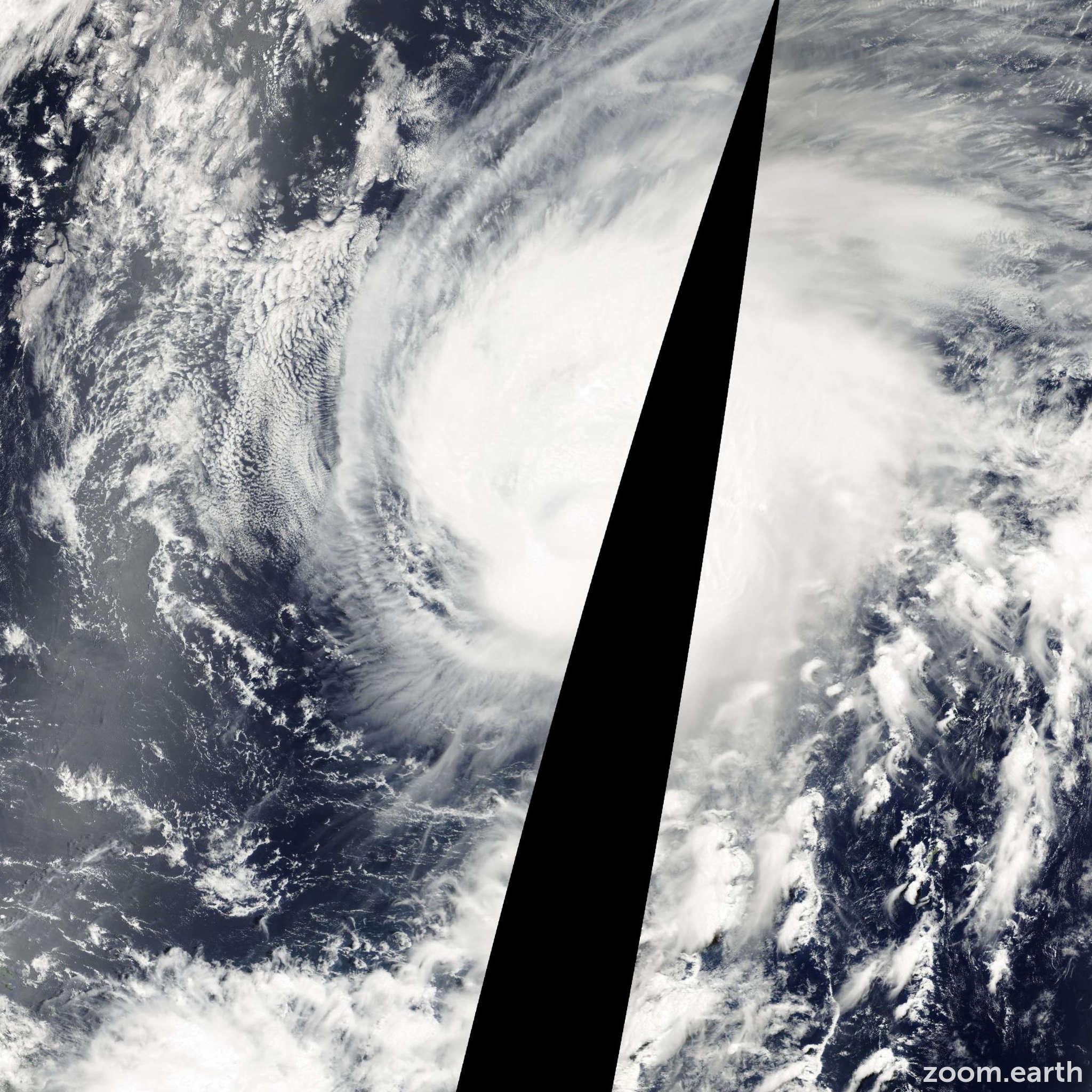 Satellite image of Typhoon Damrey 2000