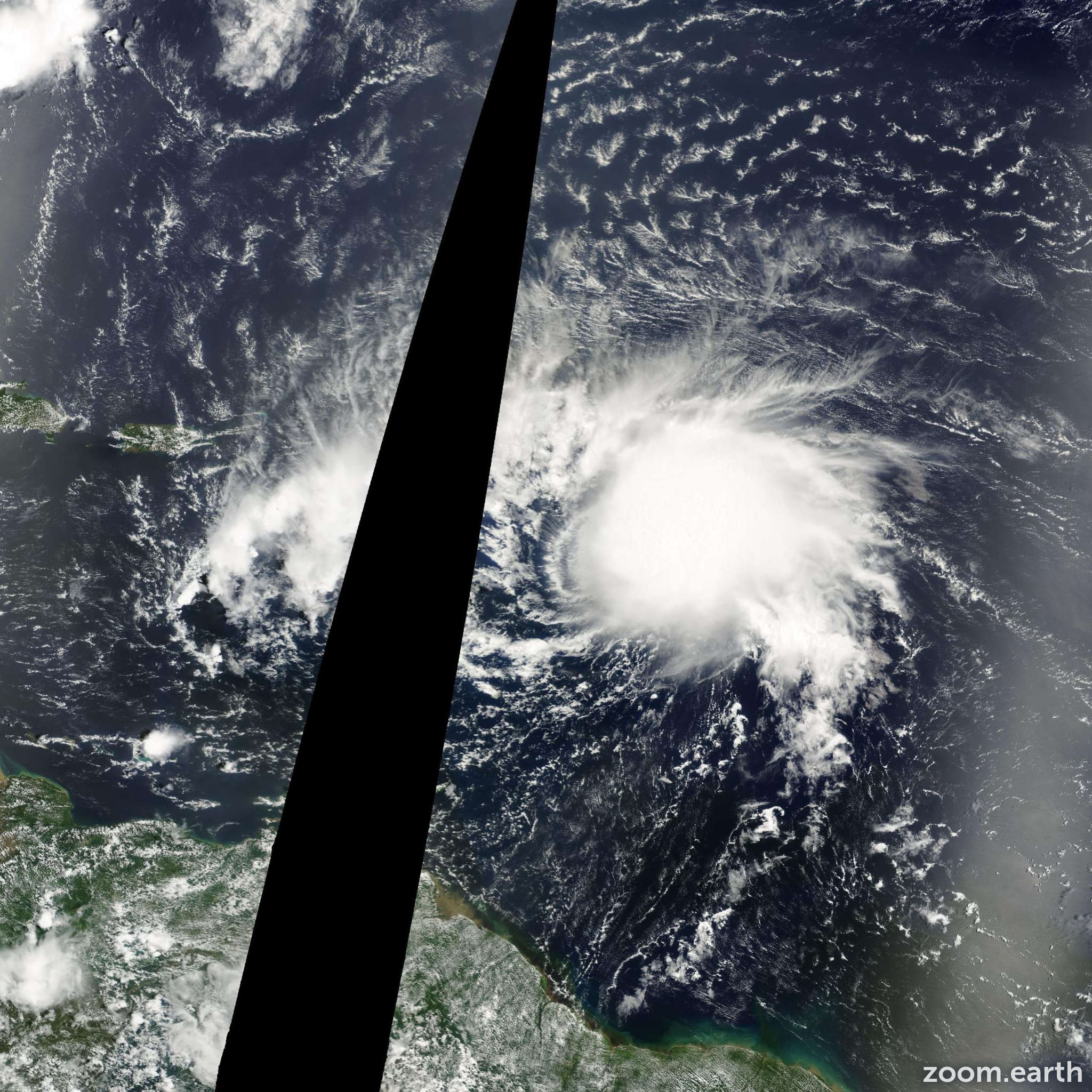 Satellite image of Hurricane Debby 2000