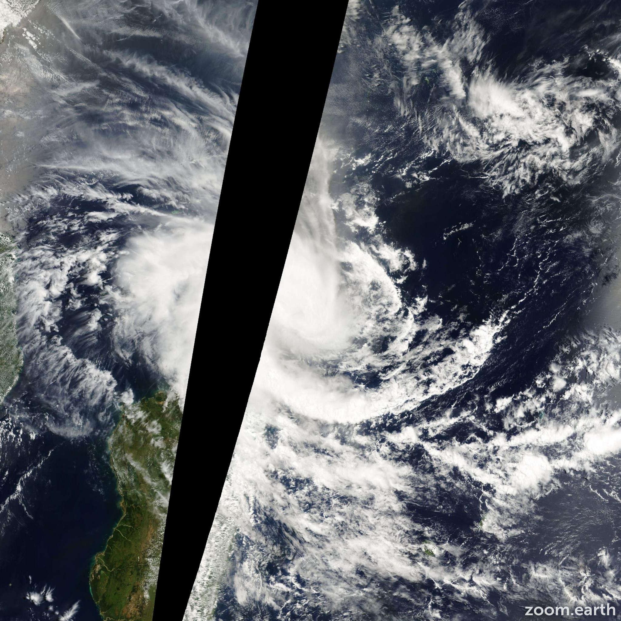 Satellite image of Storm Gloria 2000