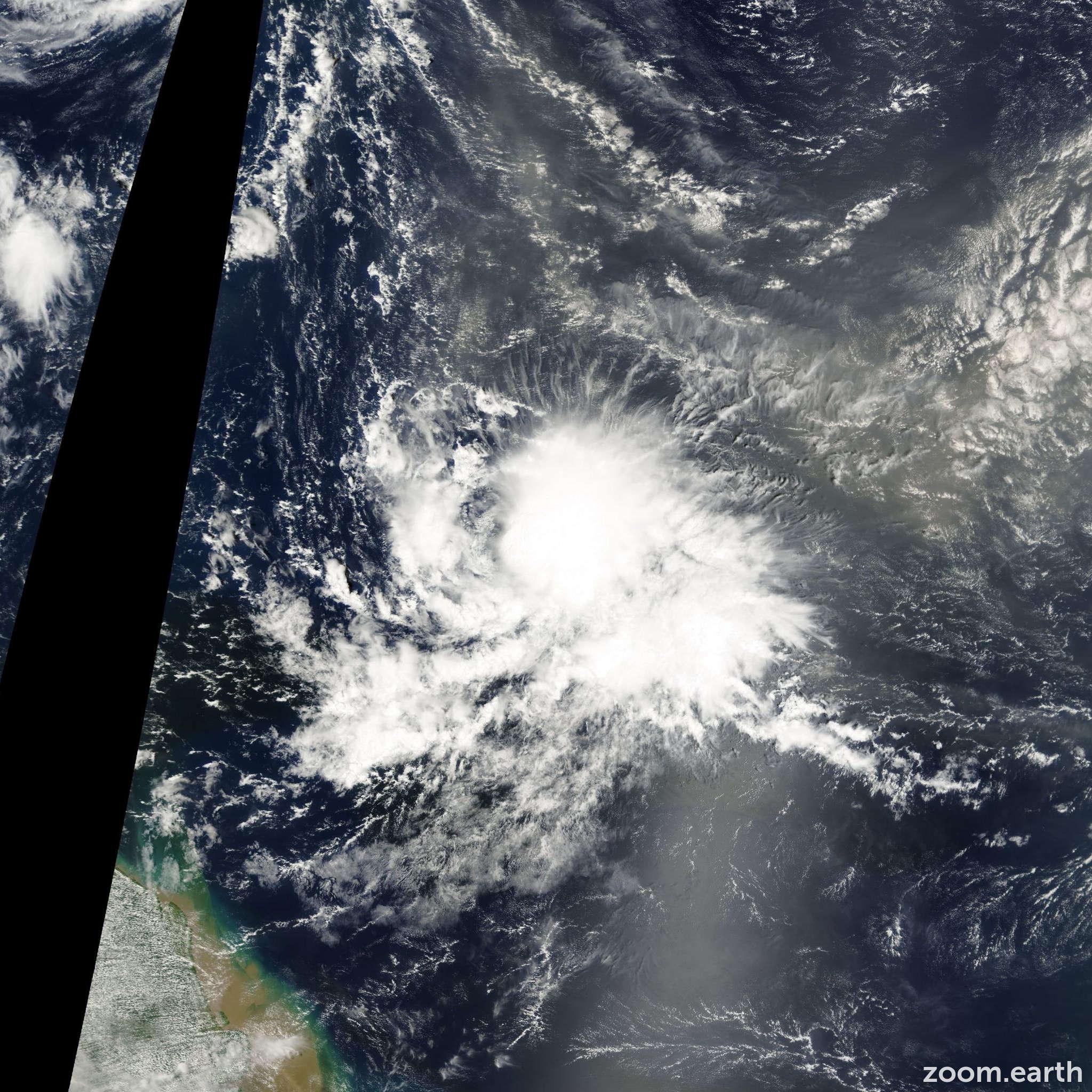 Satellite image of Hurricane Joyce 2000
