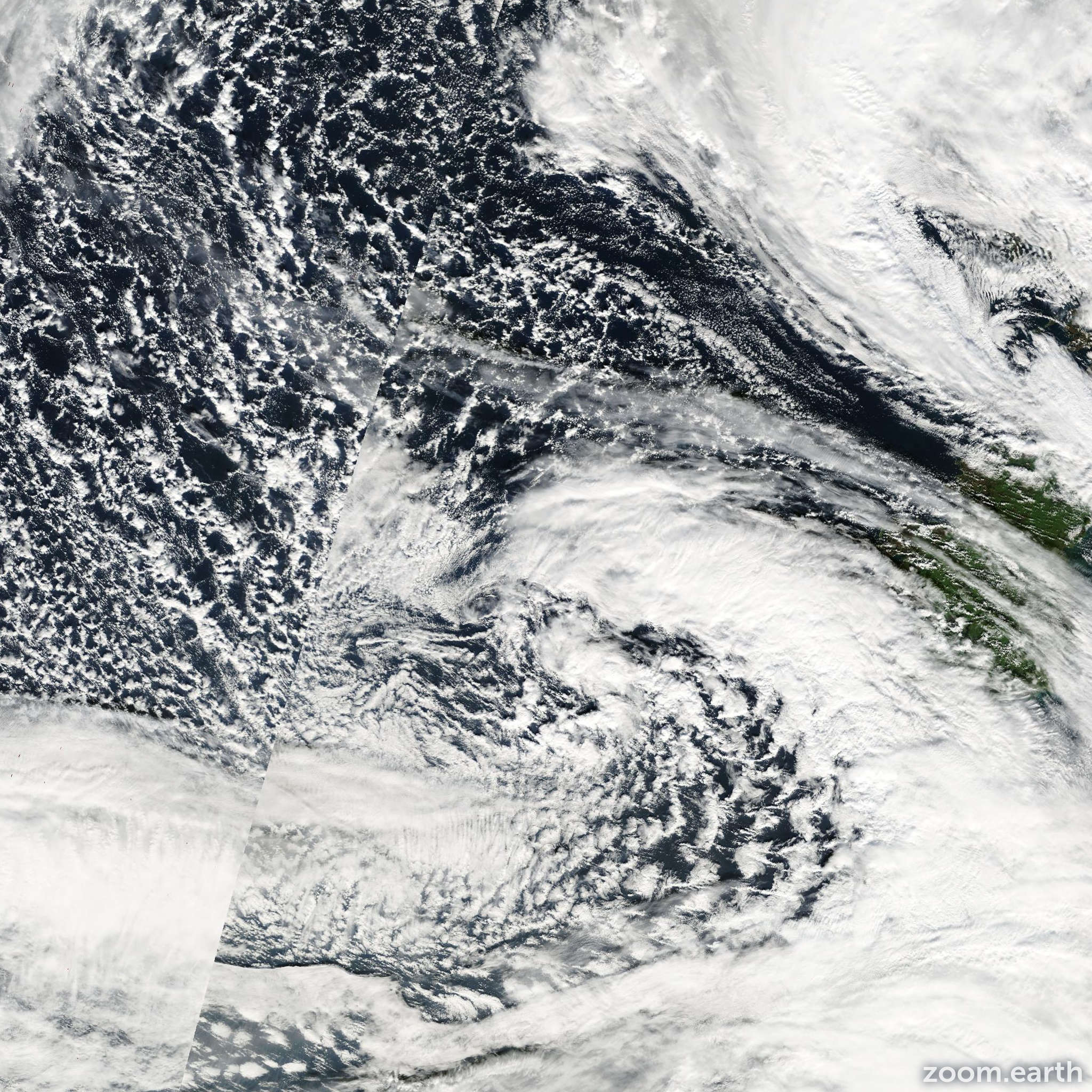 Satellite image of Storm Leslie 2000