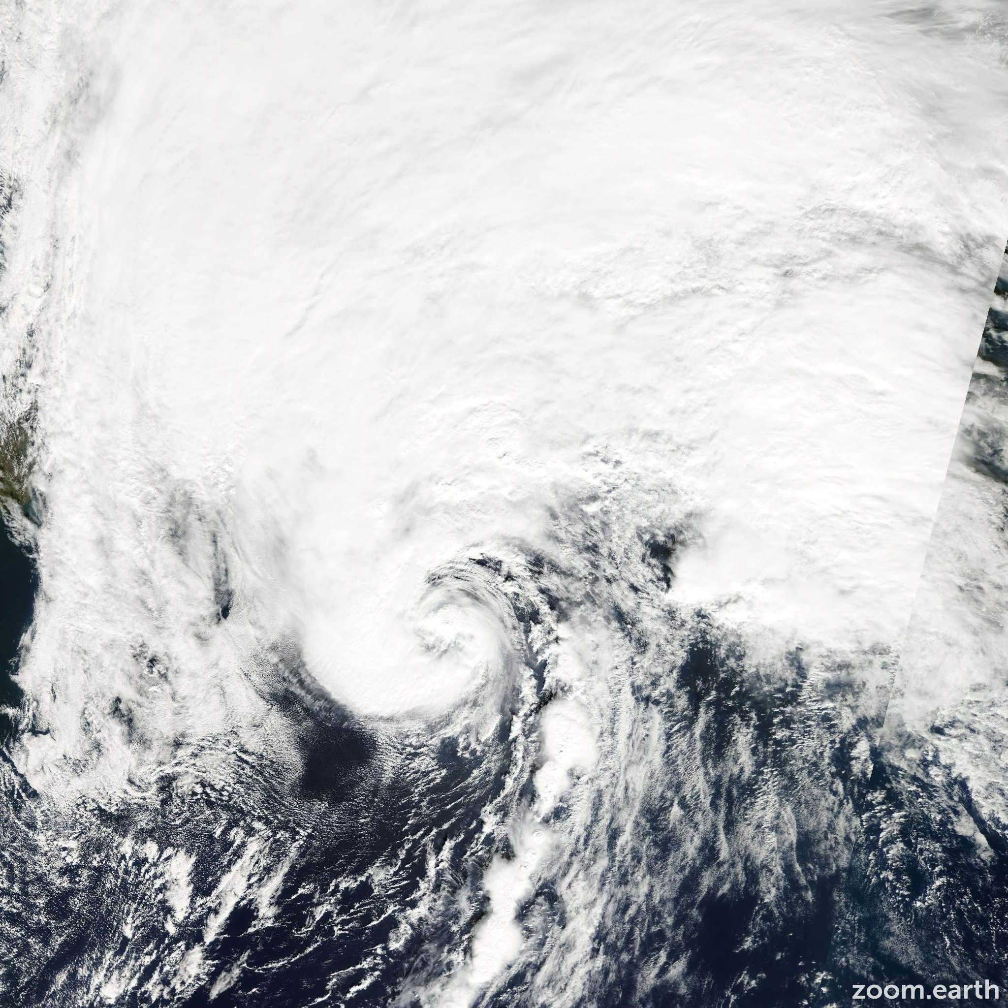 Satellite image of Hurricane Michael 2000