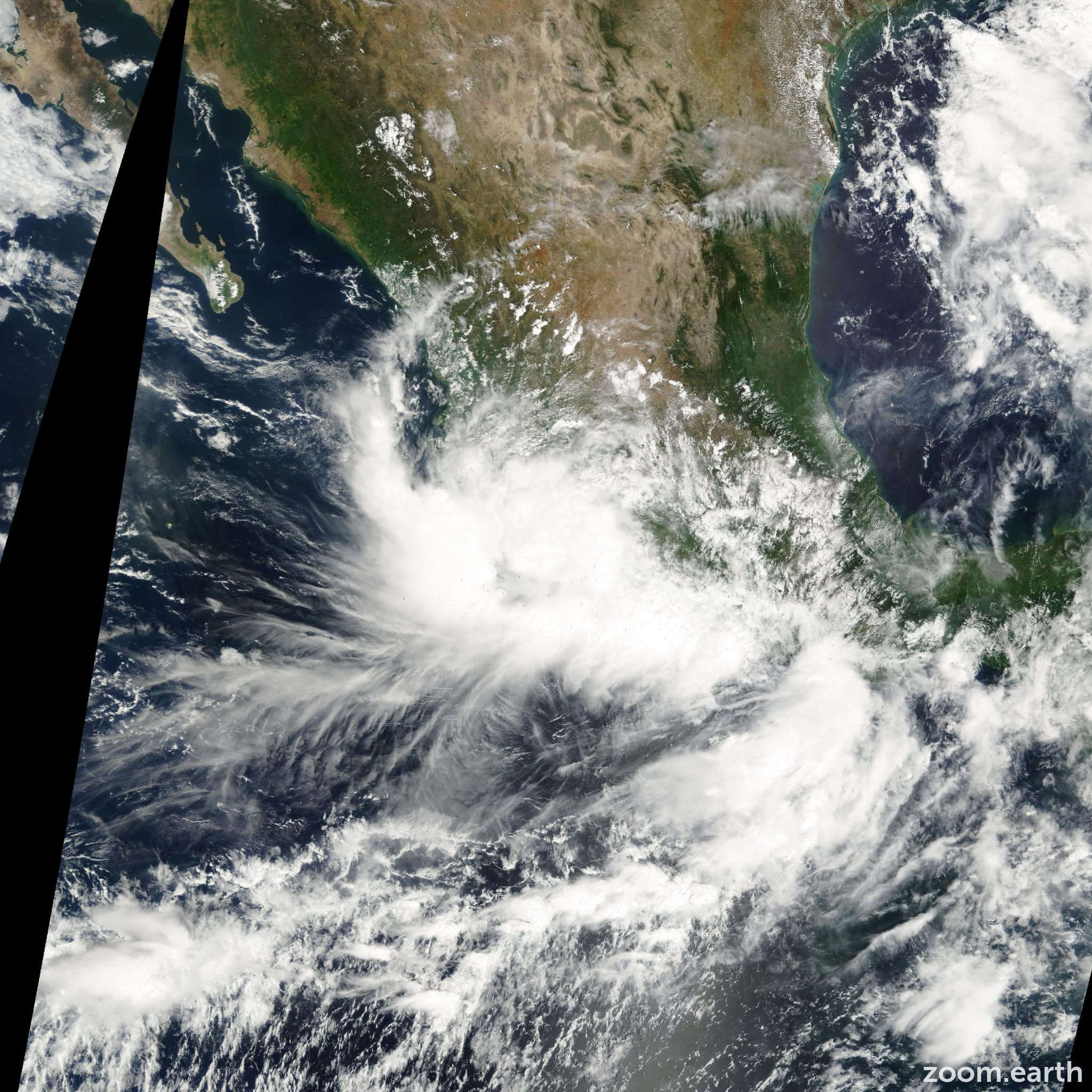 Satellite image of Storm Norman 2000