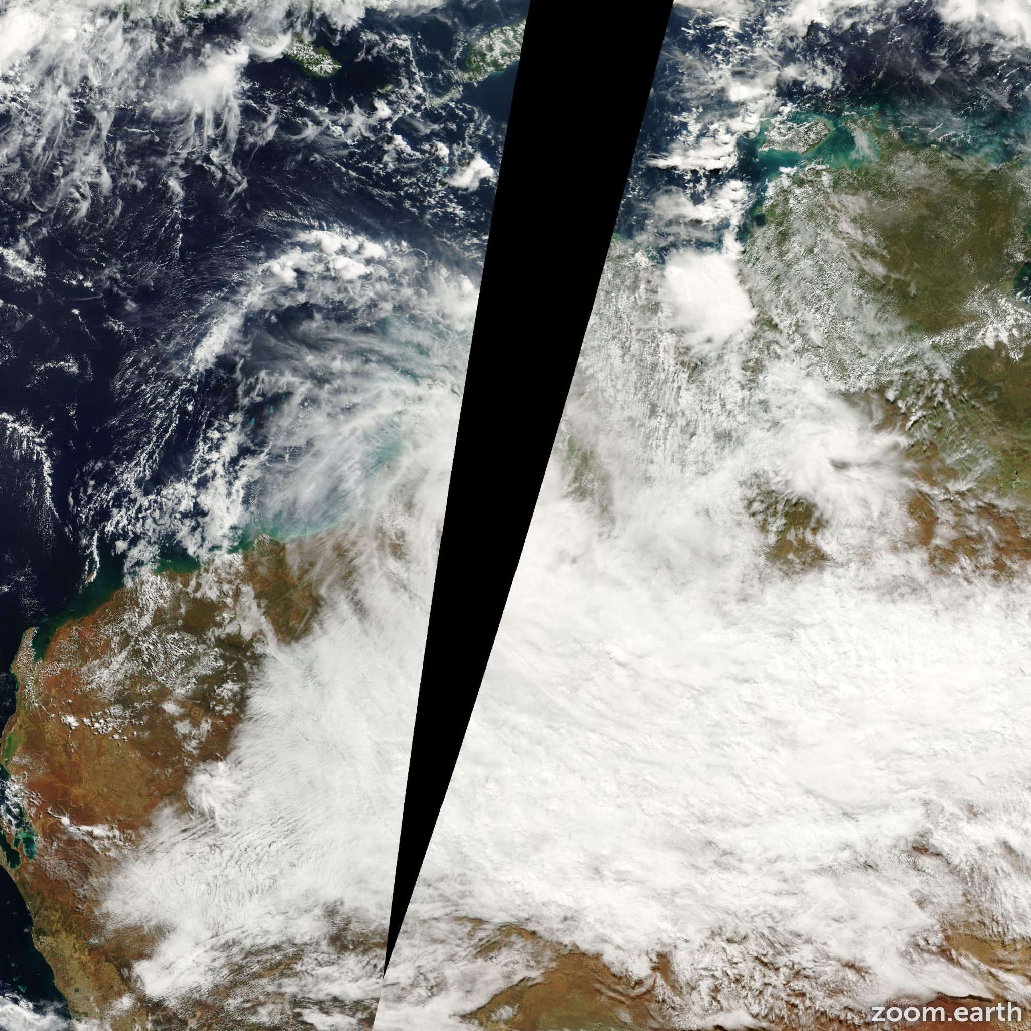 Satellite image of Cyclone Rosita 2000