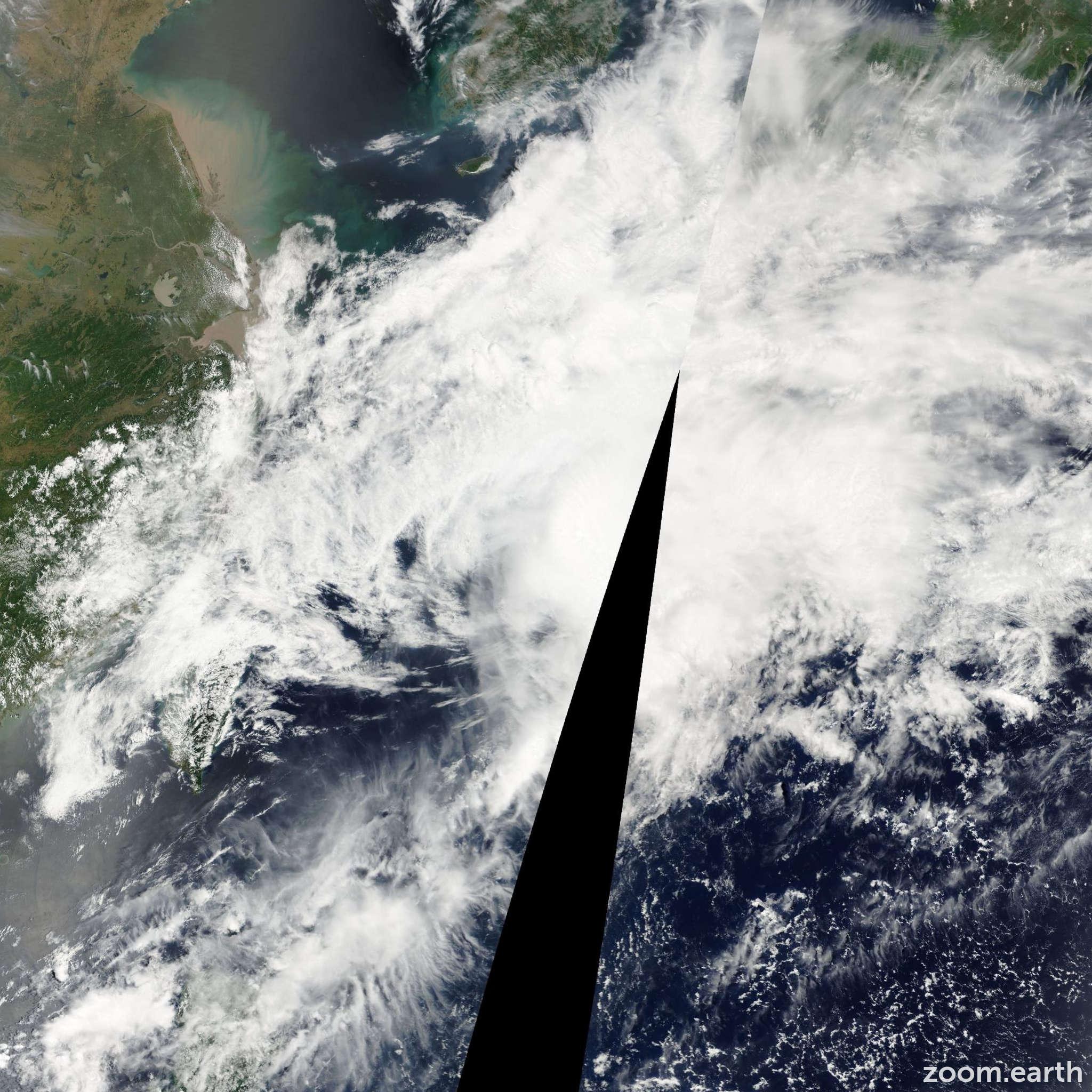 Satellite image of Storm Cimaron 2001