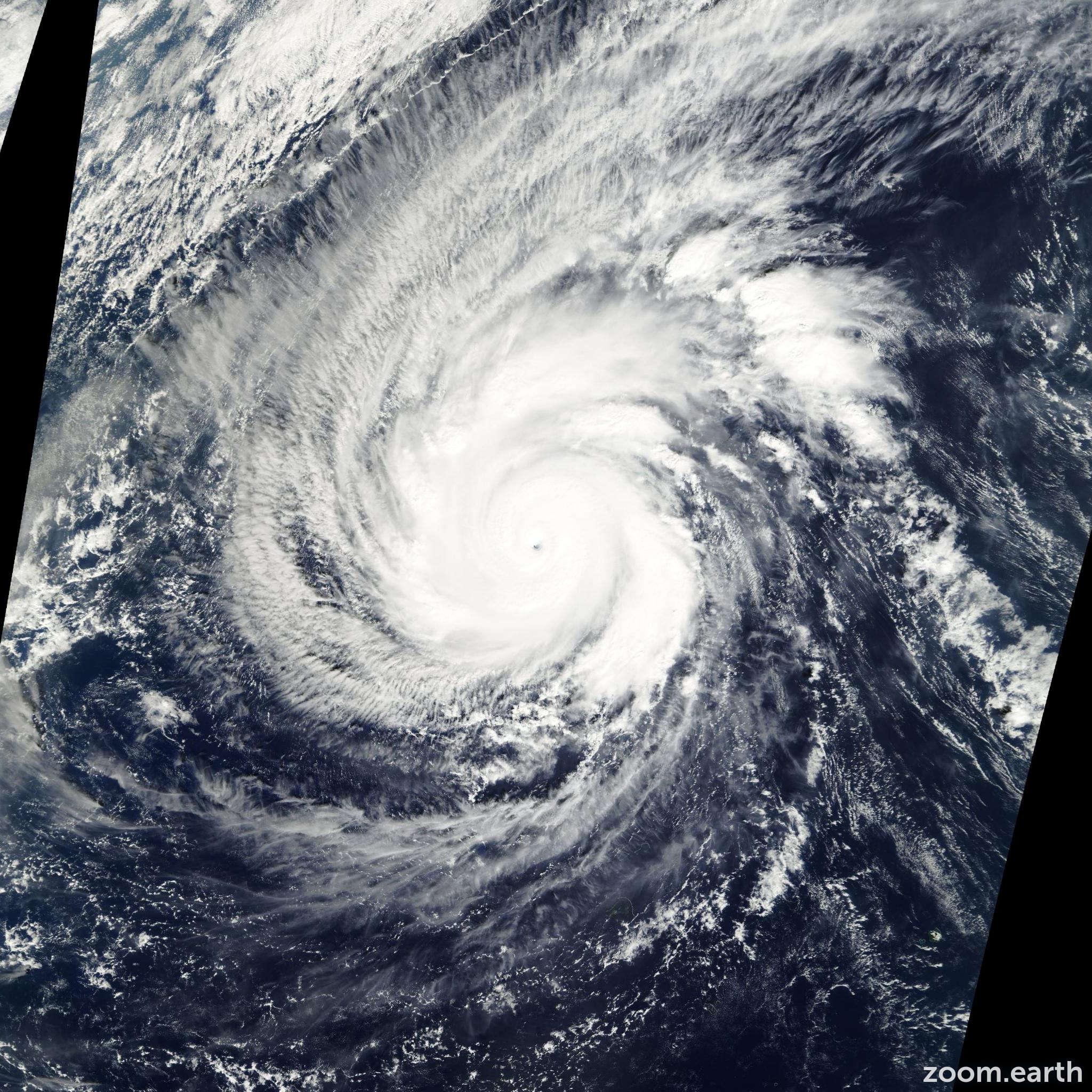 Satellite image of Typhoon Faxai 2001