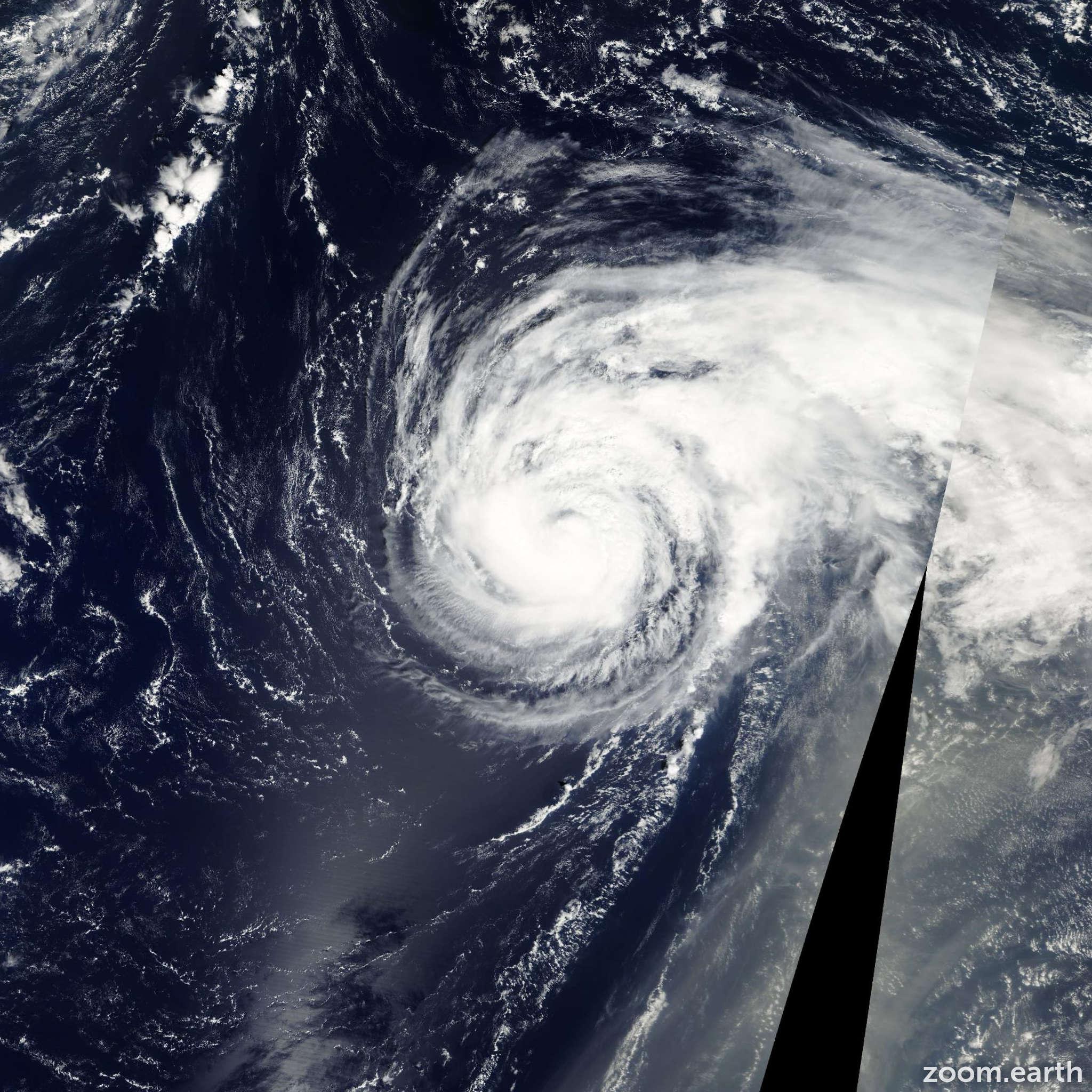 Satellite image of Hurricane Felix 2001