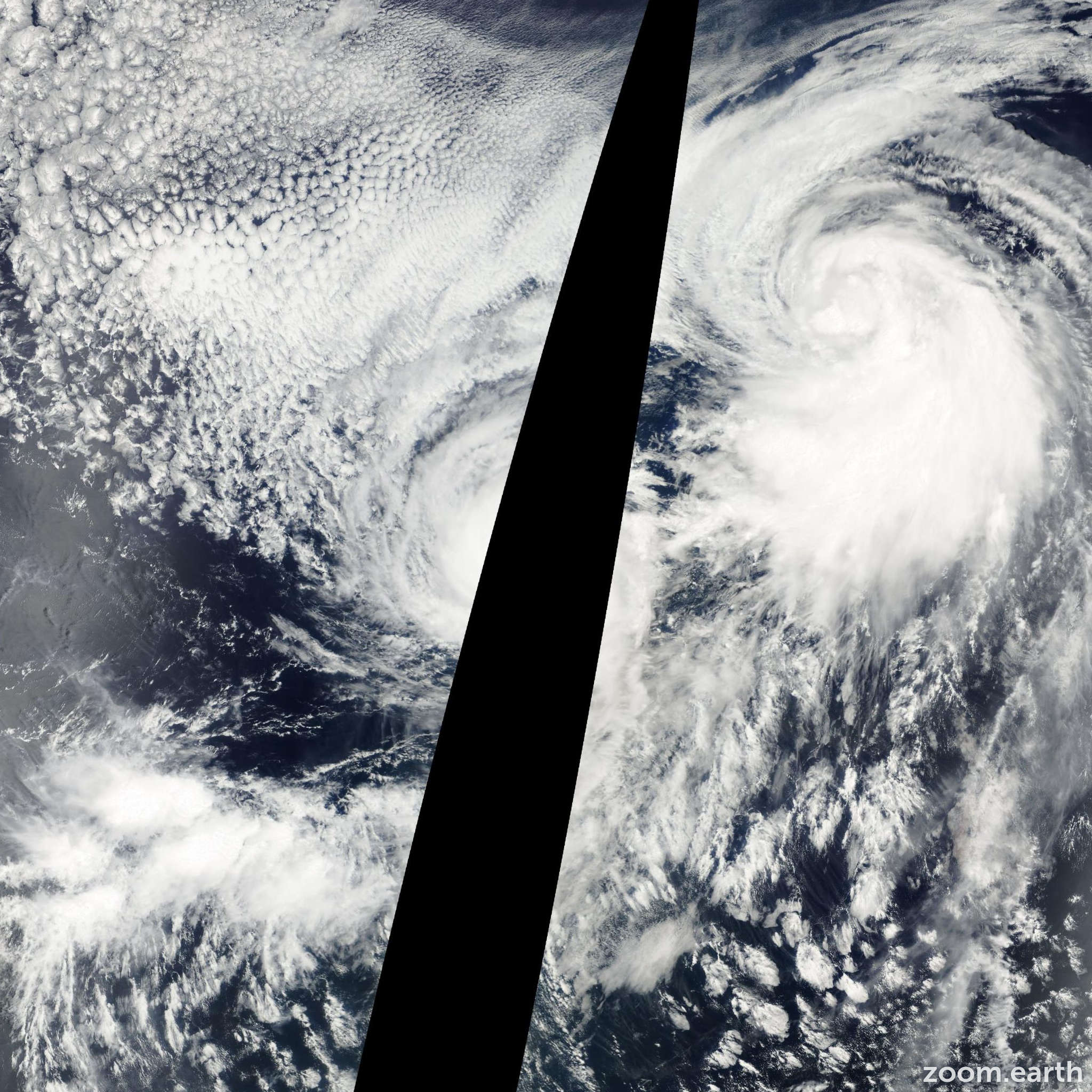 Satellite image of Hurricane Gil 2001