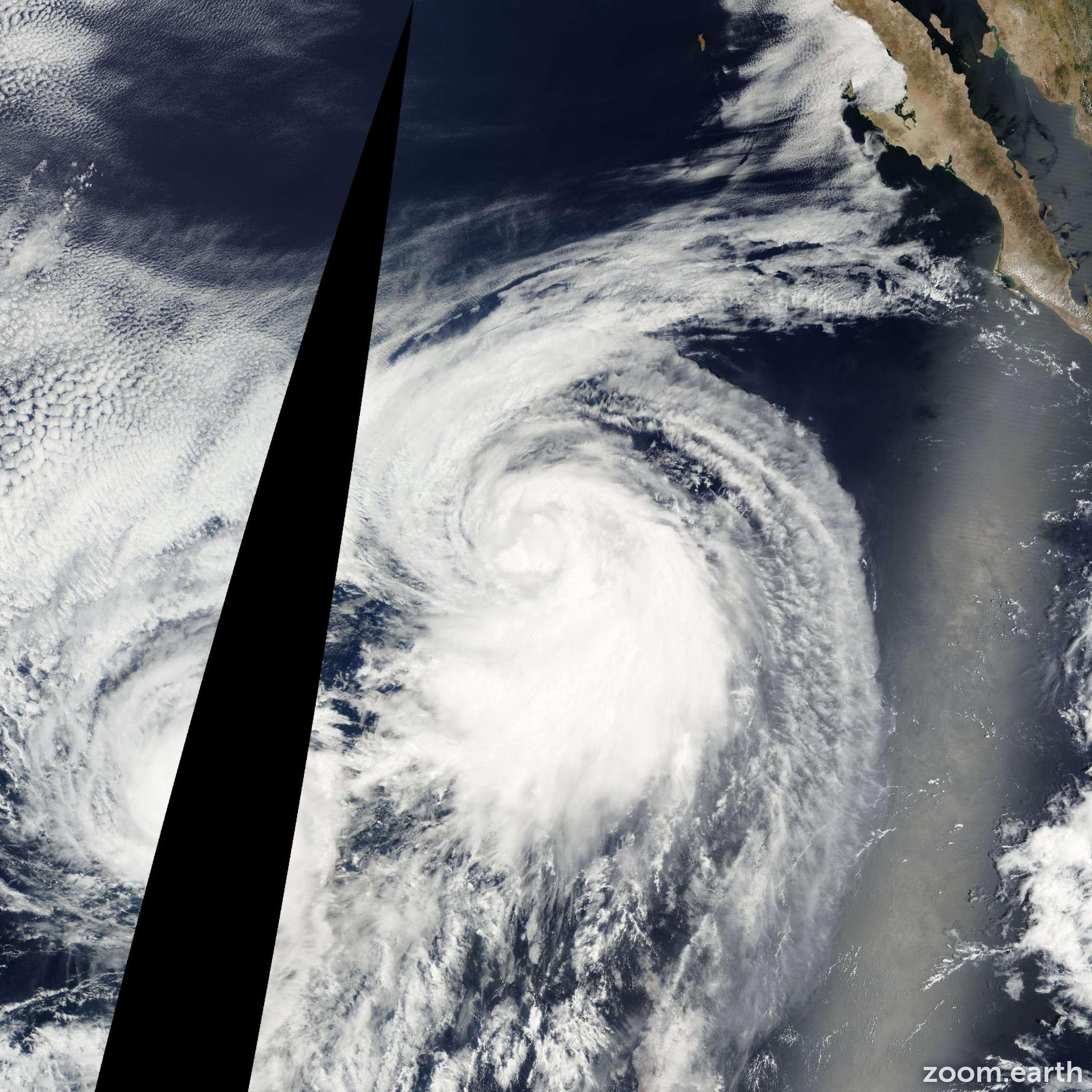 Satellite image of Storm Henriette 2001