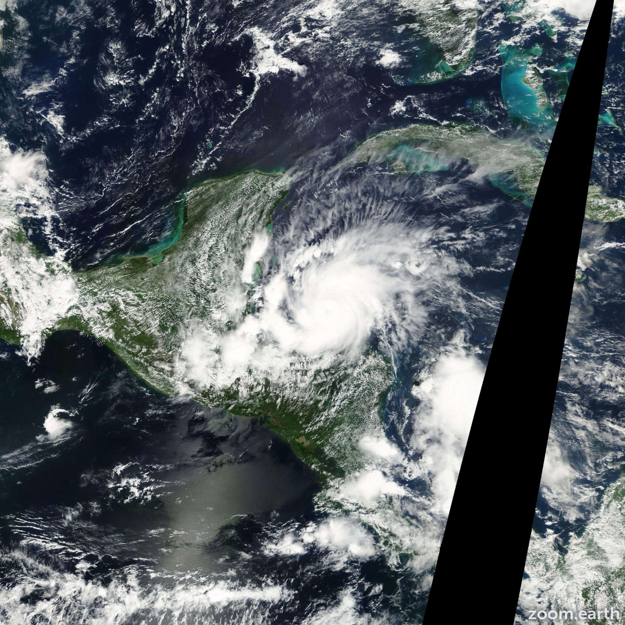 Satellite image of Hurricane Iris 2001