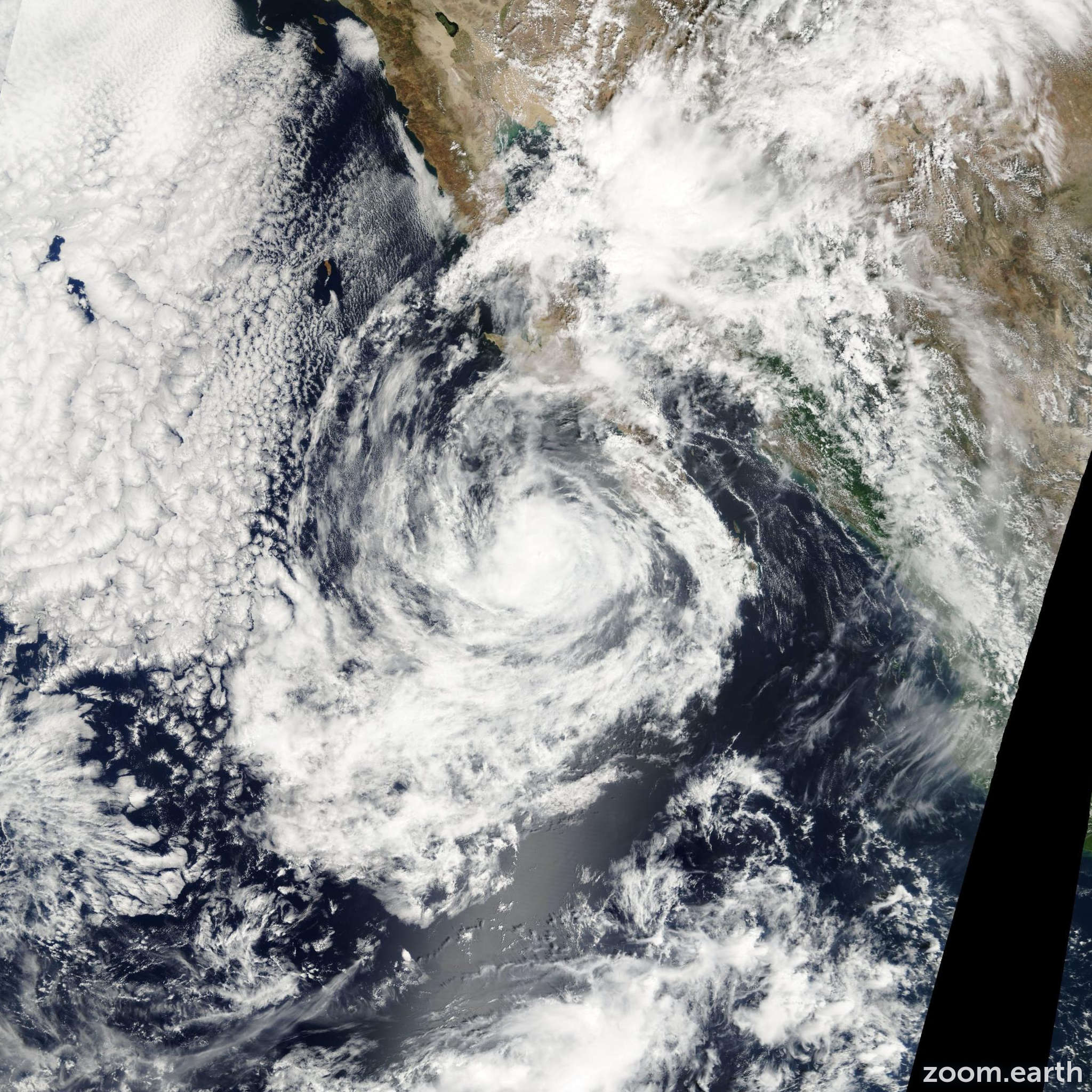 Satellite image of Storm Ivo 2001