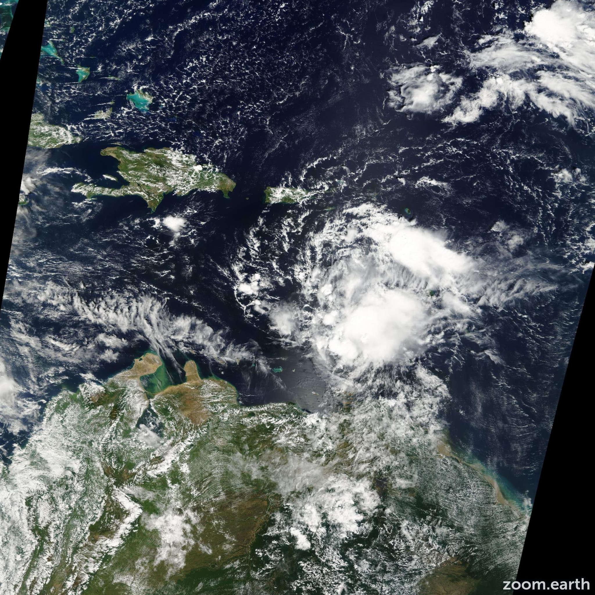 Satellite image of Storm Jerry 2001