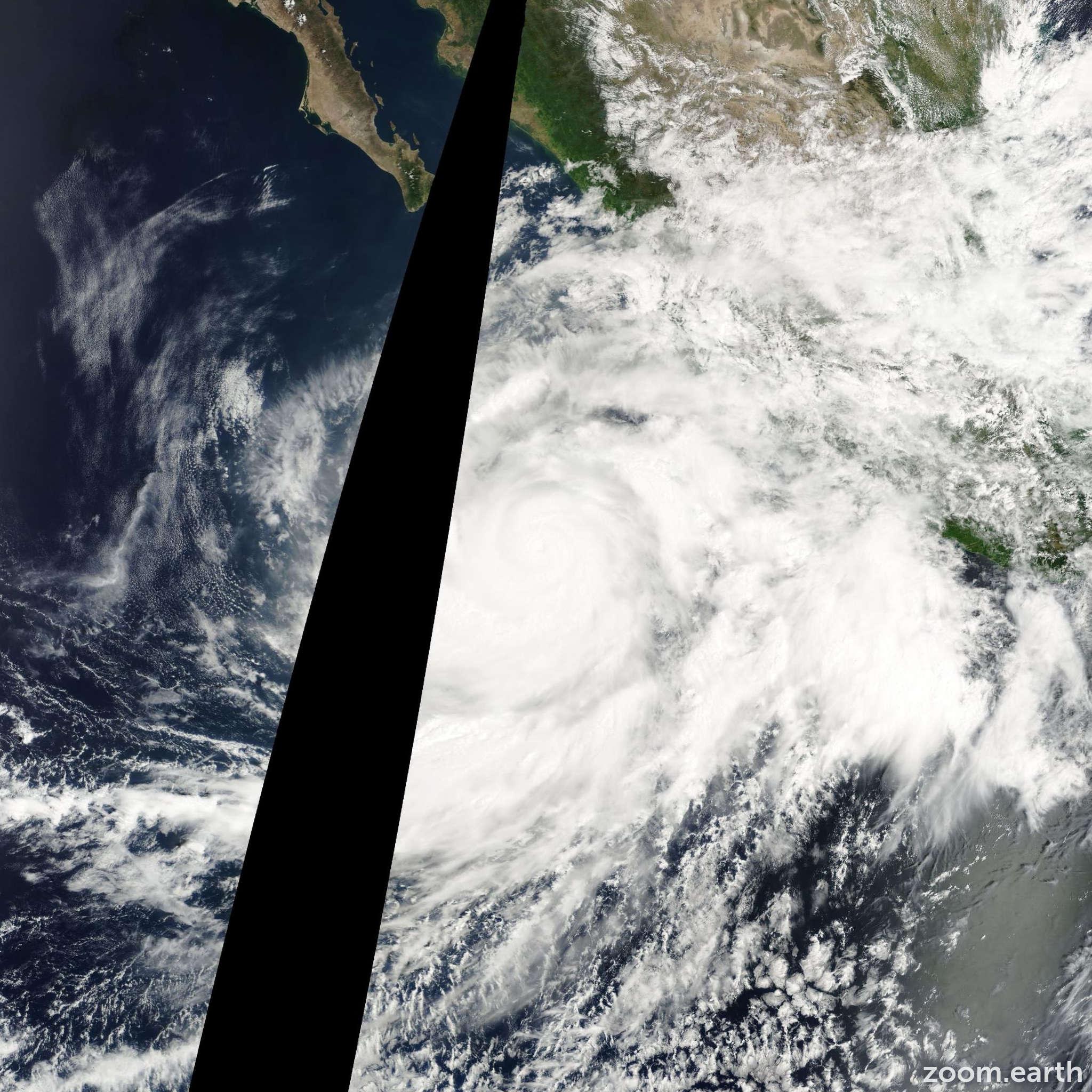 Satellite image of Hurricane Juliette 2001