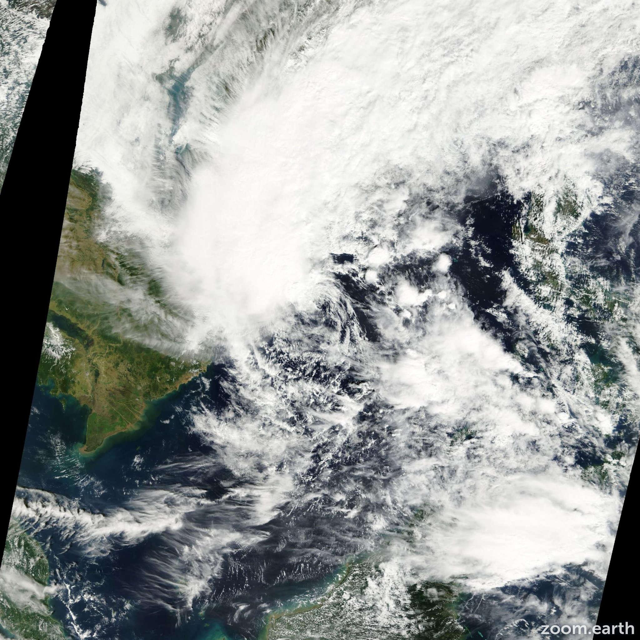 Satellite image of Storm Kajiki 2001