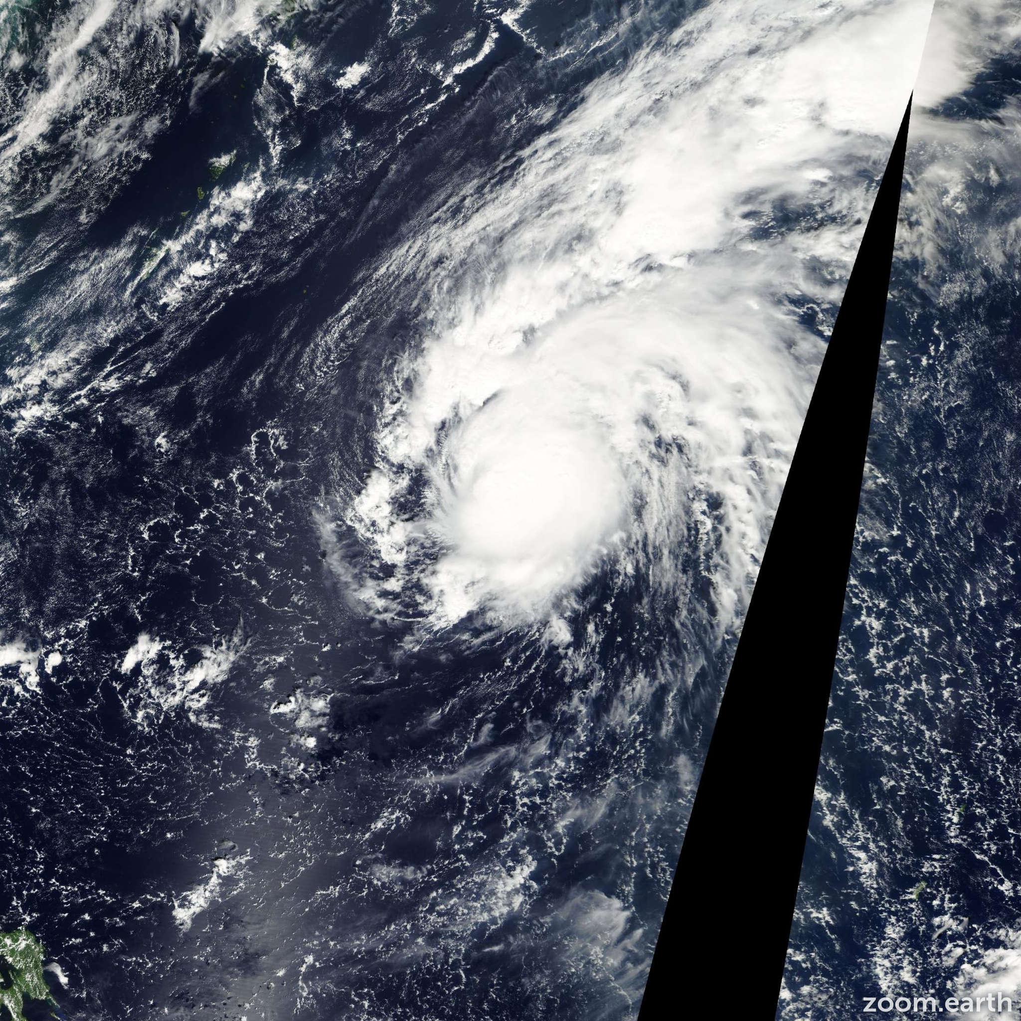 Satellite image of Typhoon Krosa 2001