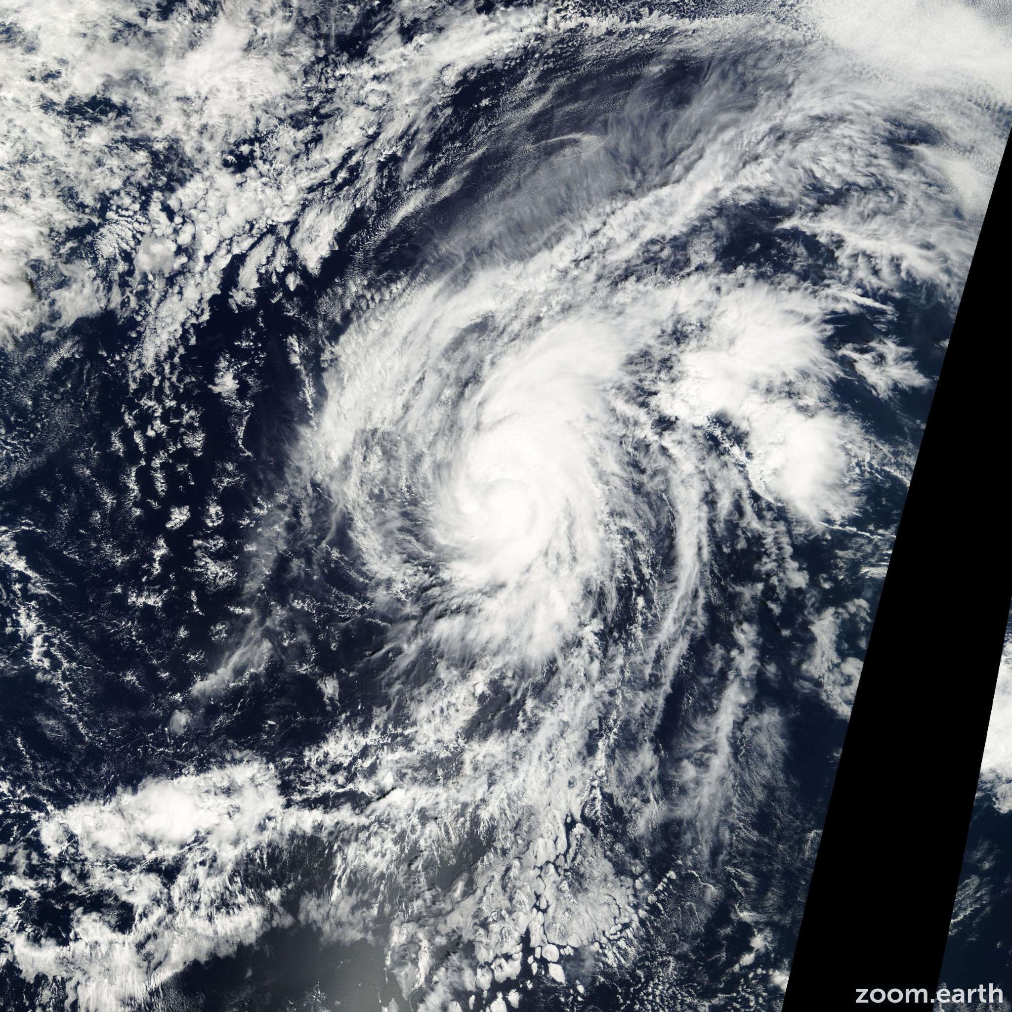 Satellite image of Hurricane Narda 2001