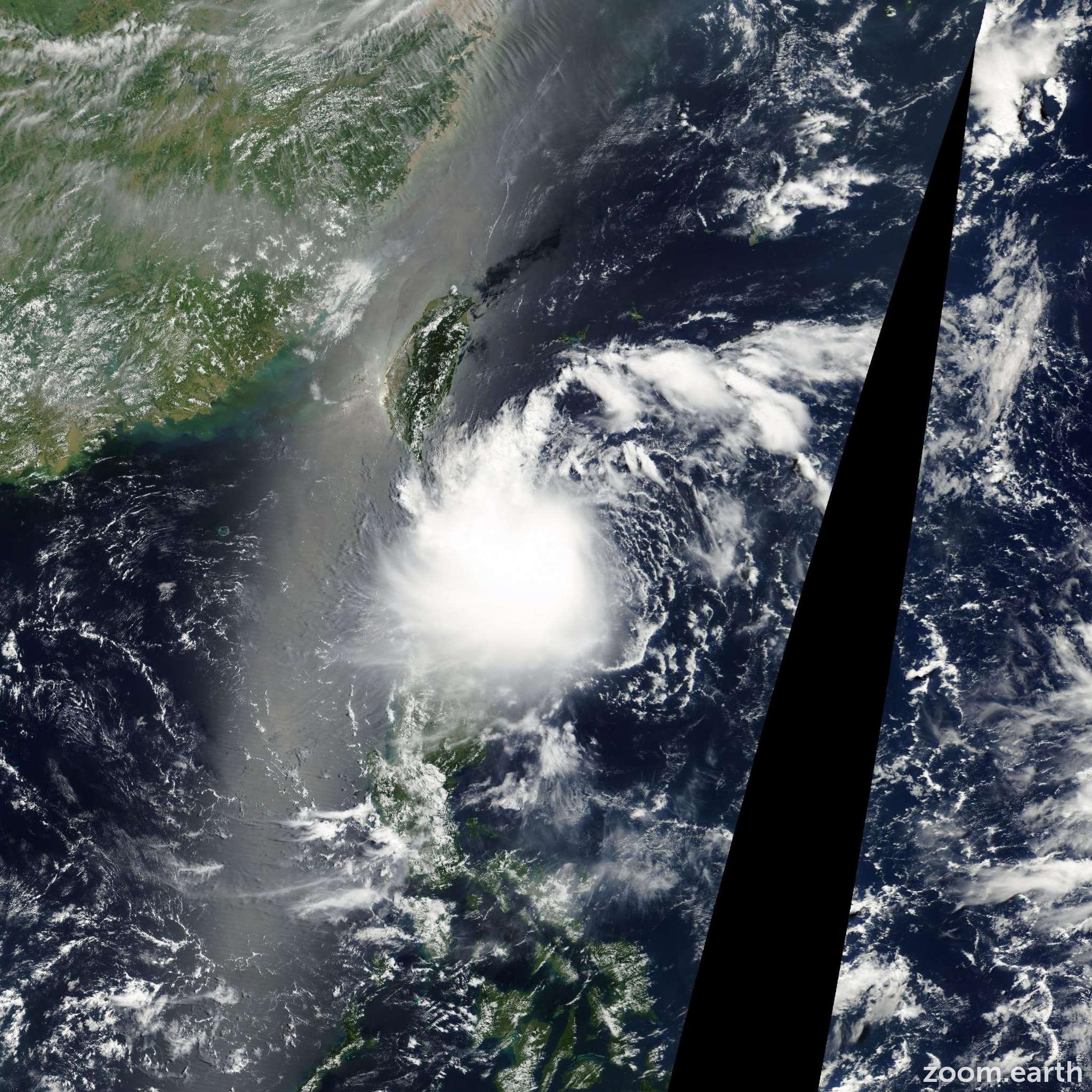 Satellite image of Storm Trami 2001