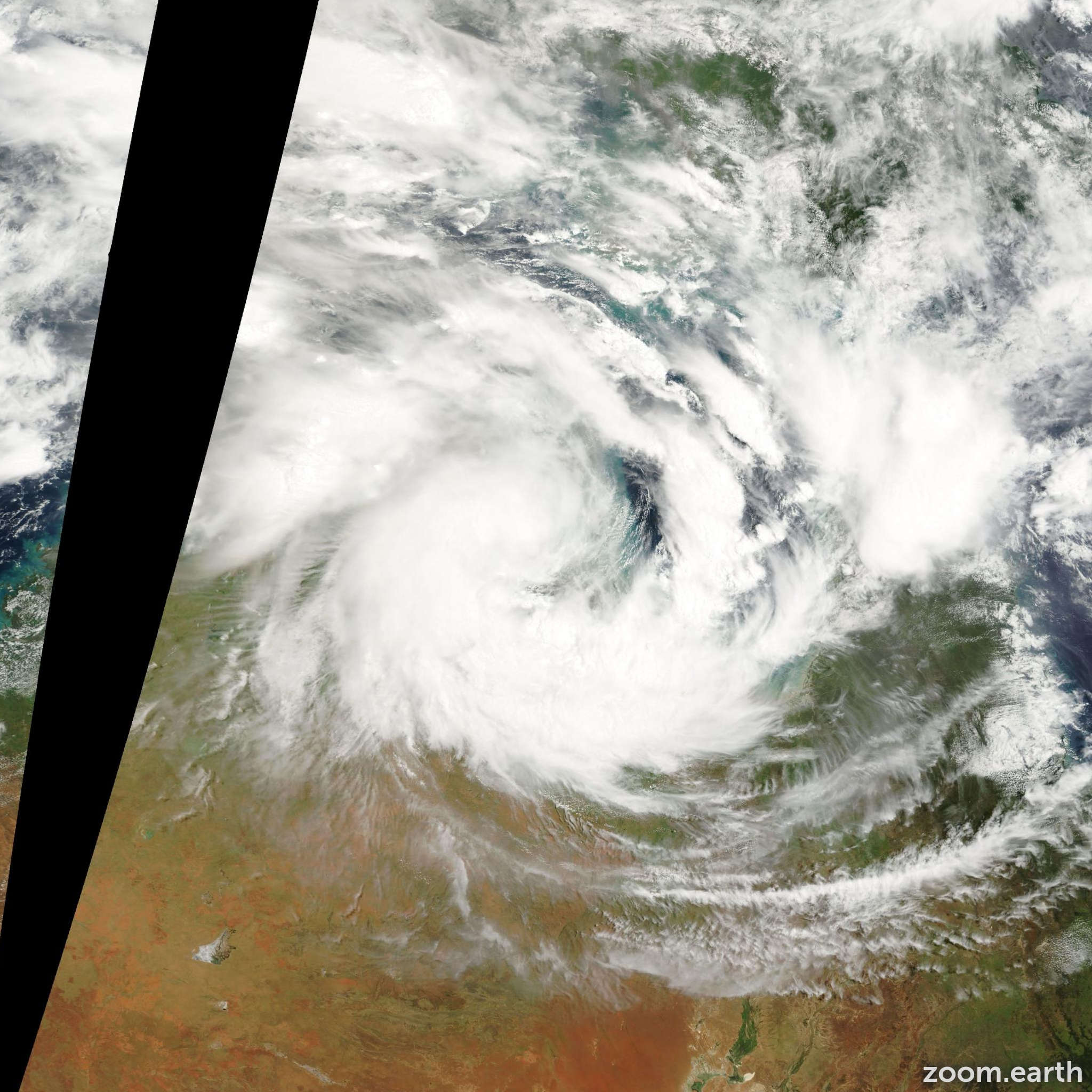 Satellite image of Cyclone Winsome 2001