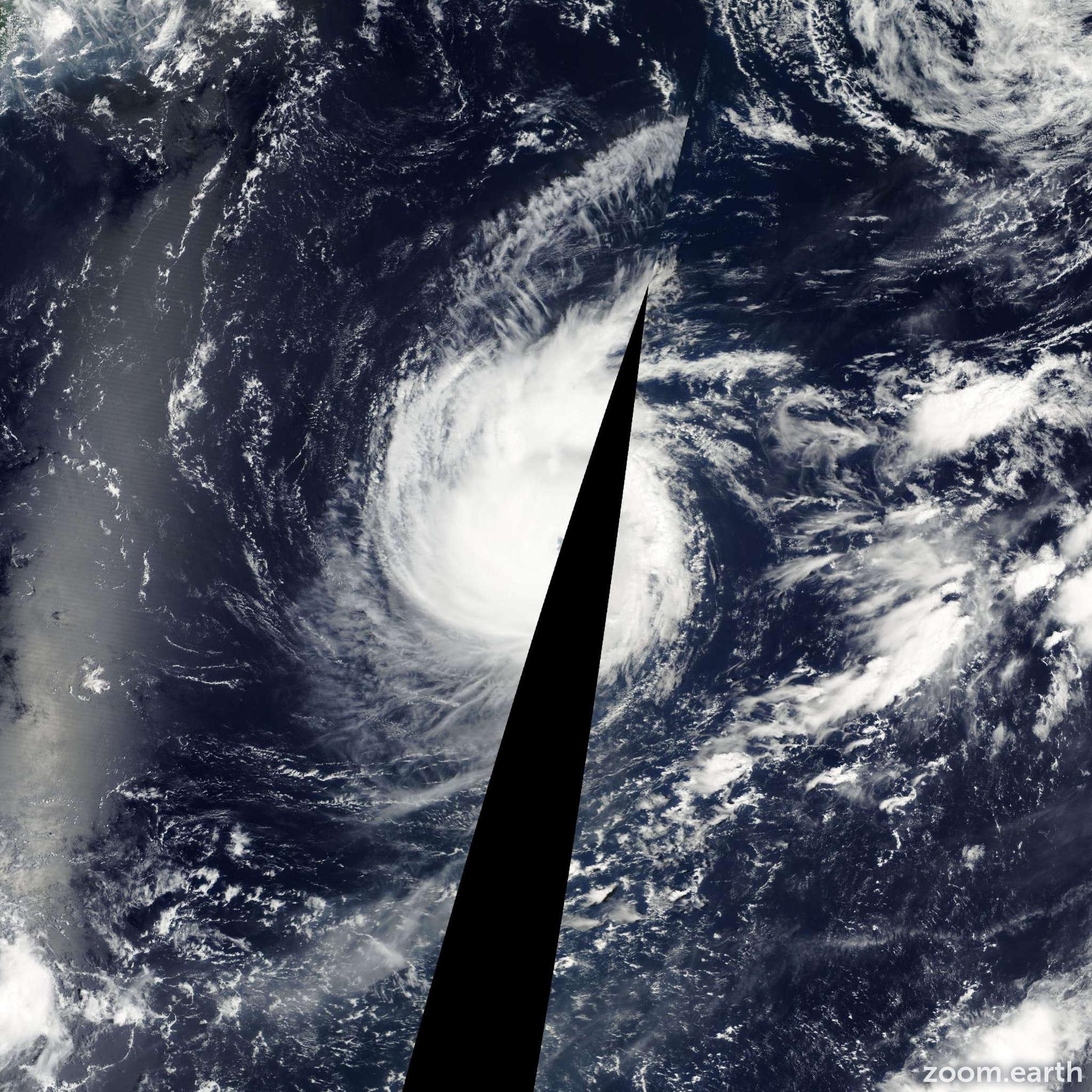Satellite image of Typhoon Wutip 2001