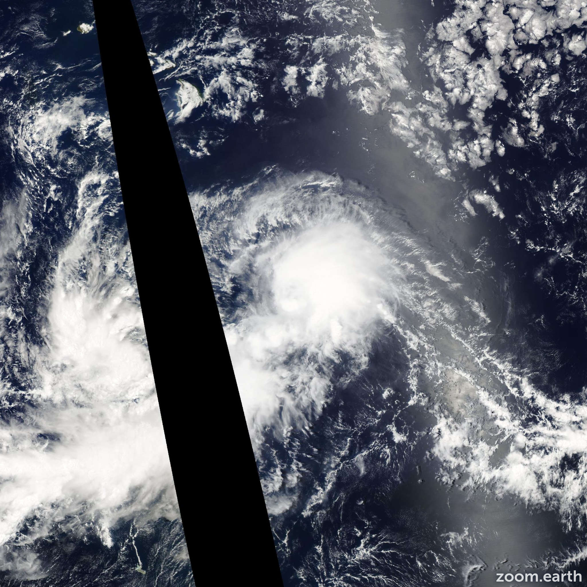 Satellite image of Storm Alika 2002