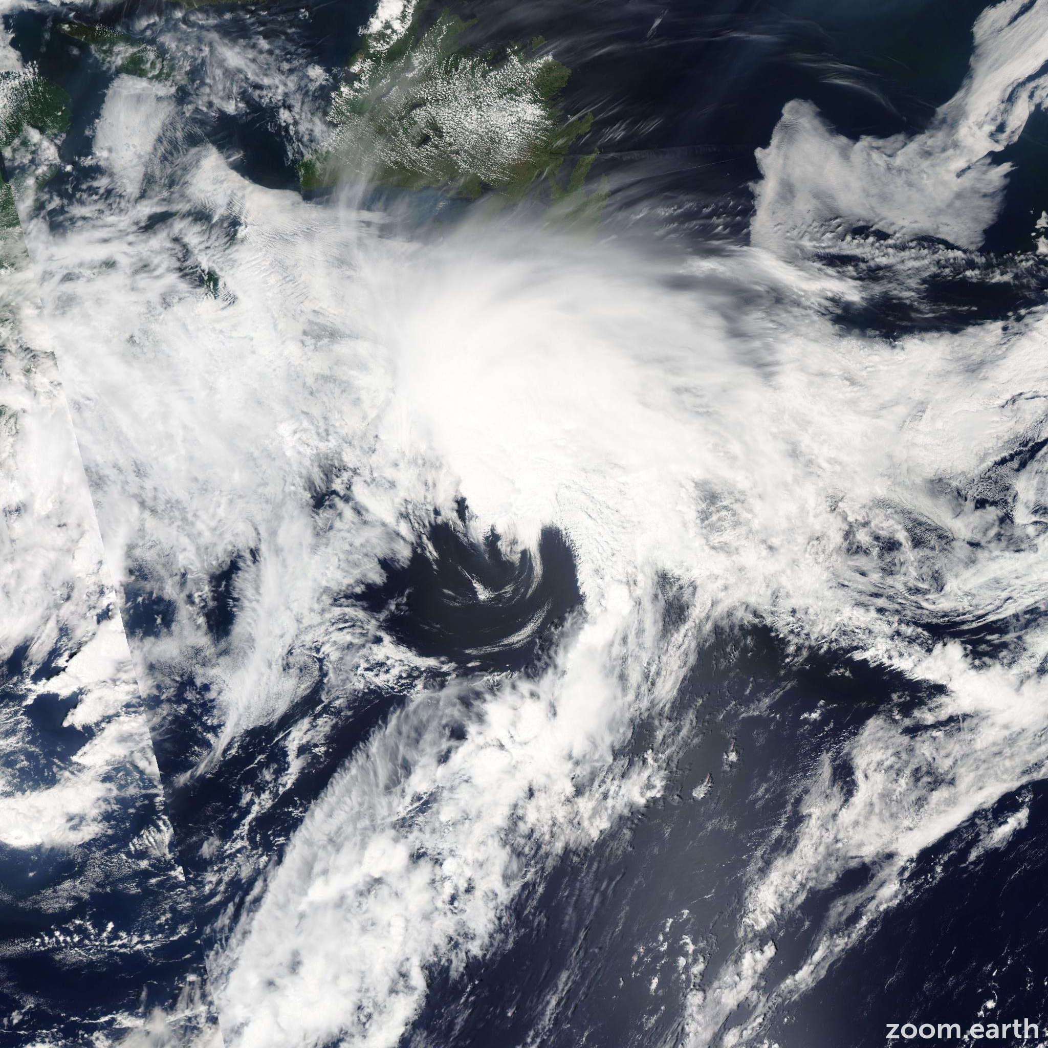 Satellite image of Storm Arthur 2002
