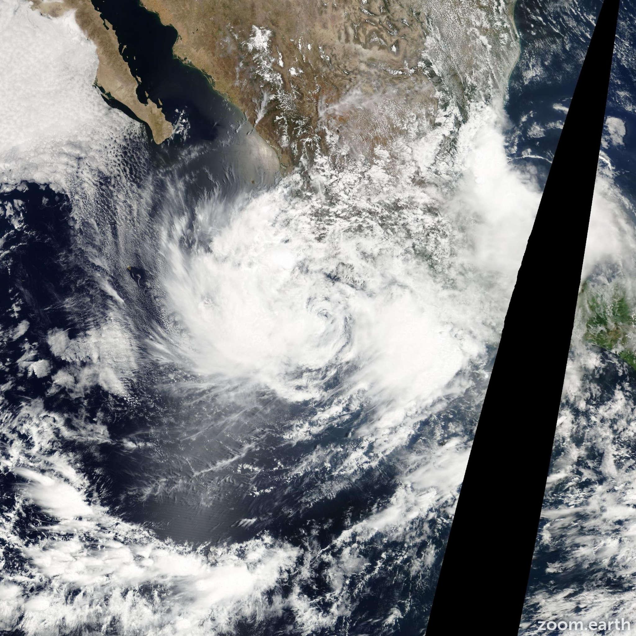 Satellite image of Storm Boris 2002