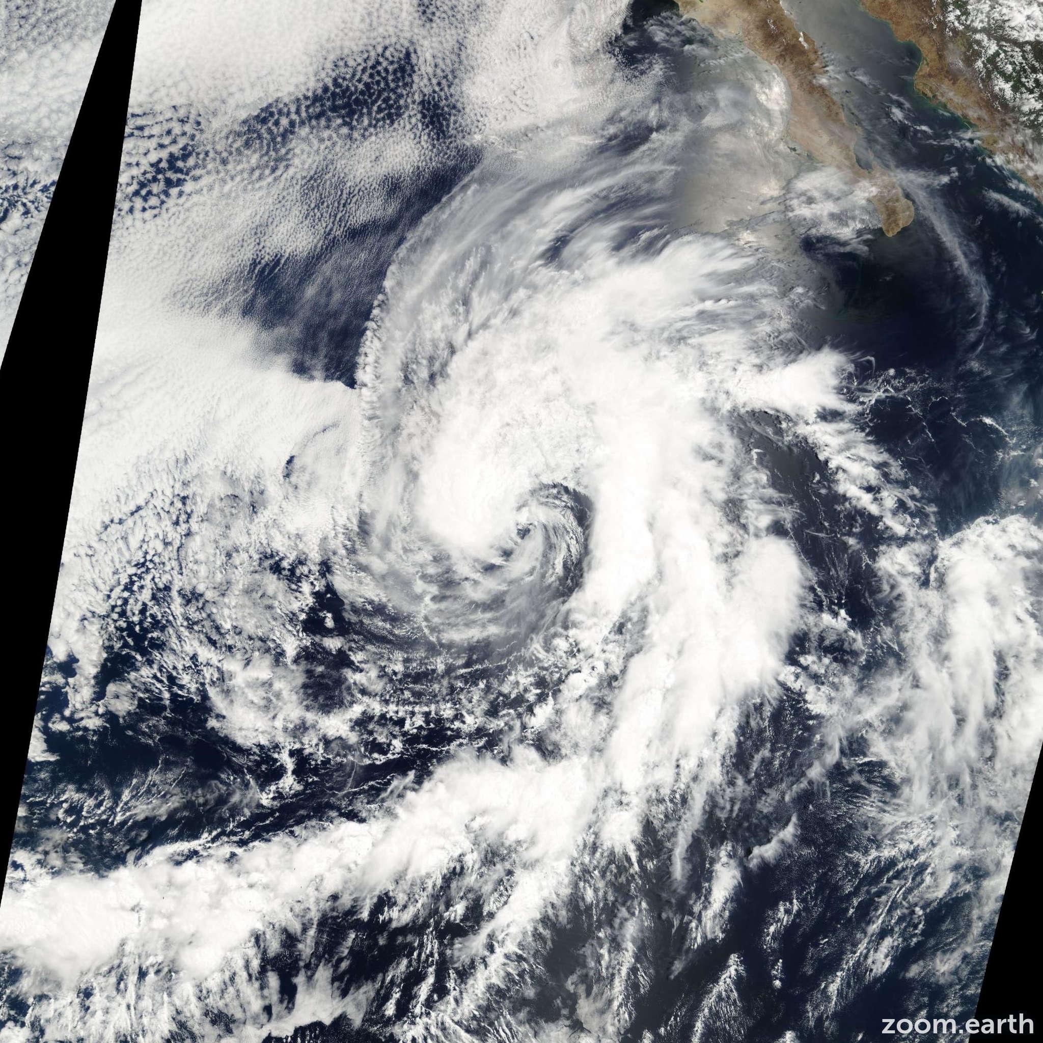 Satellite image of Storm Cristina 2002