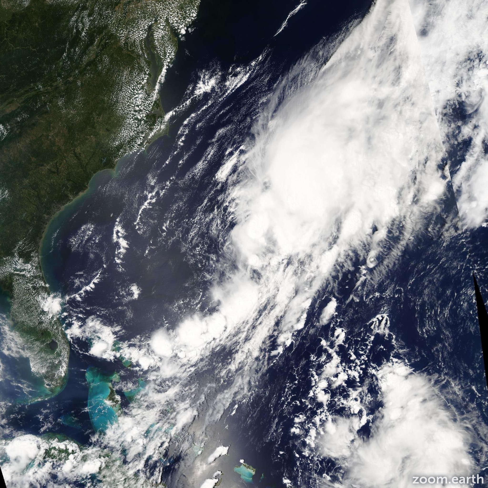 Satellite image of Storm Cristobal 2002