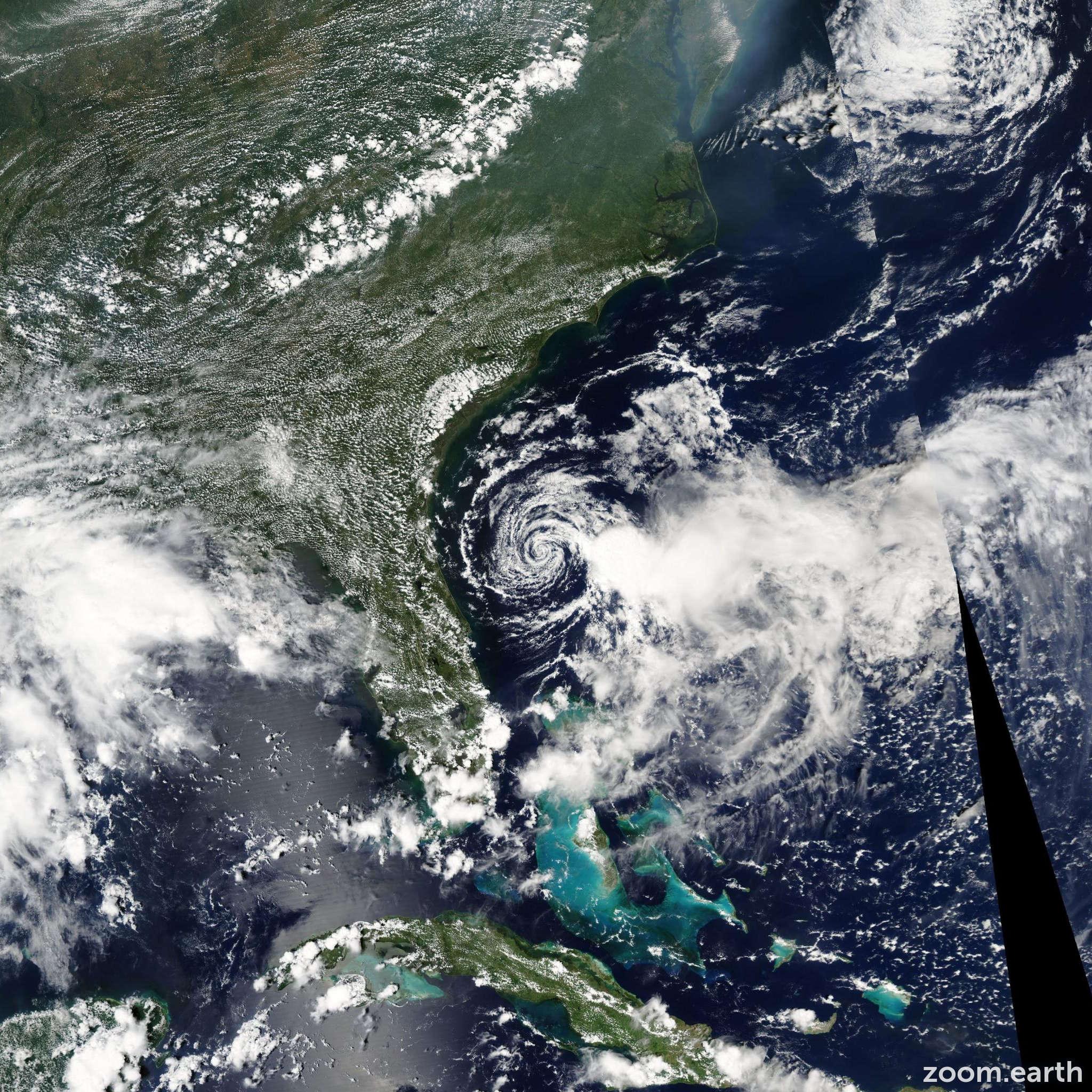 Satellite image of Storm Edouard 2002