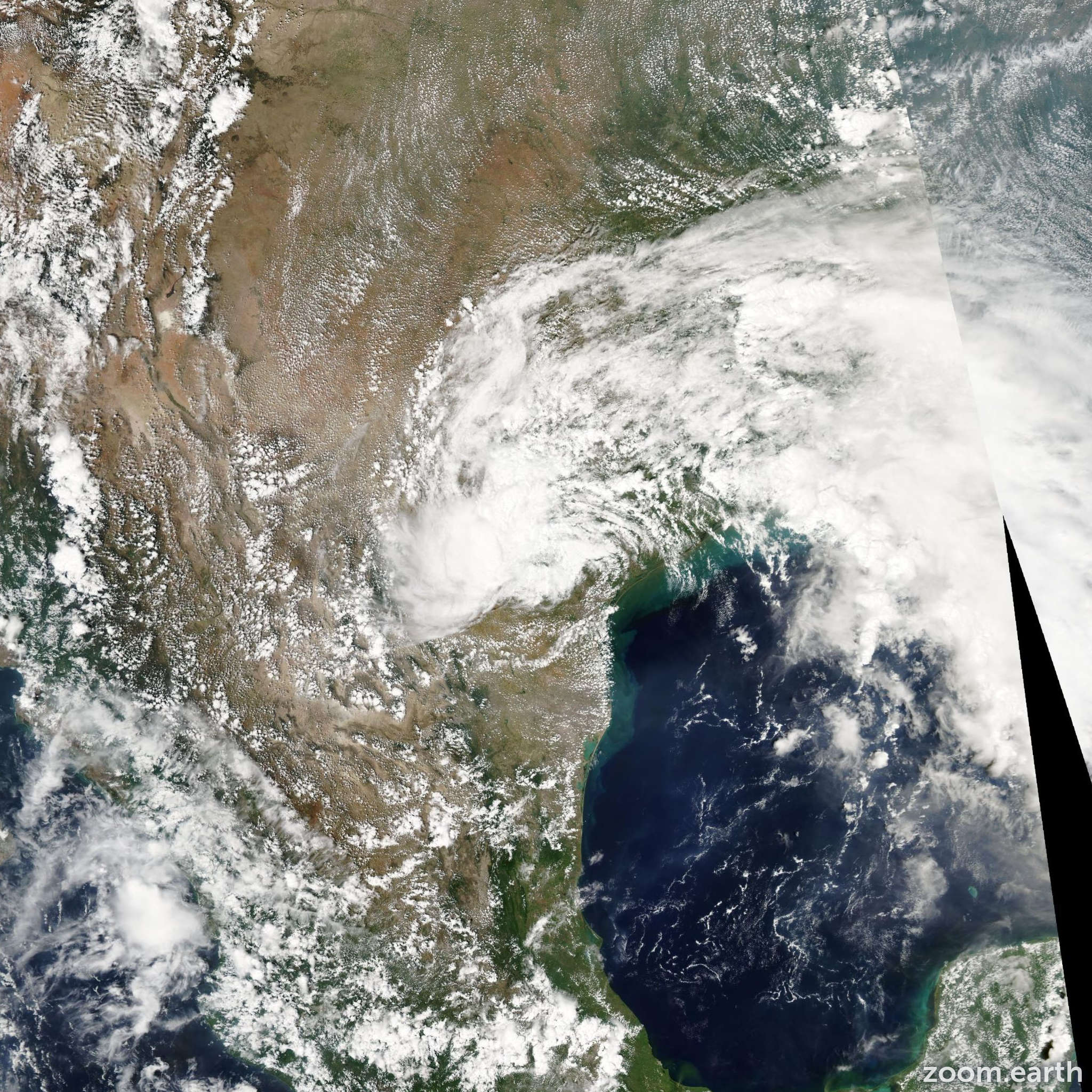 Satellite image of Storm Fay 2002
