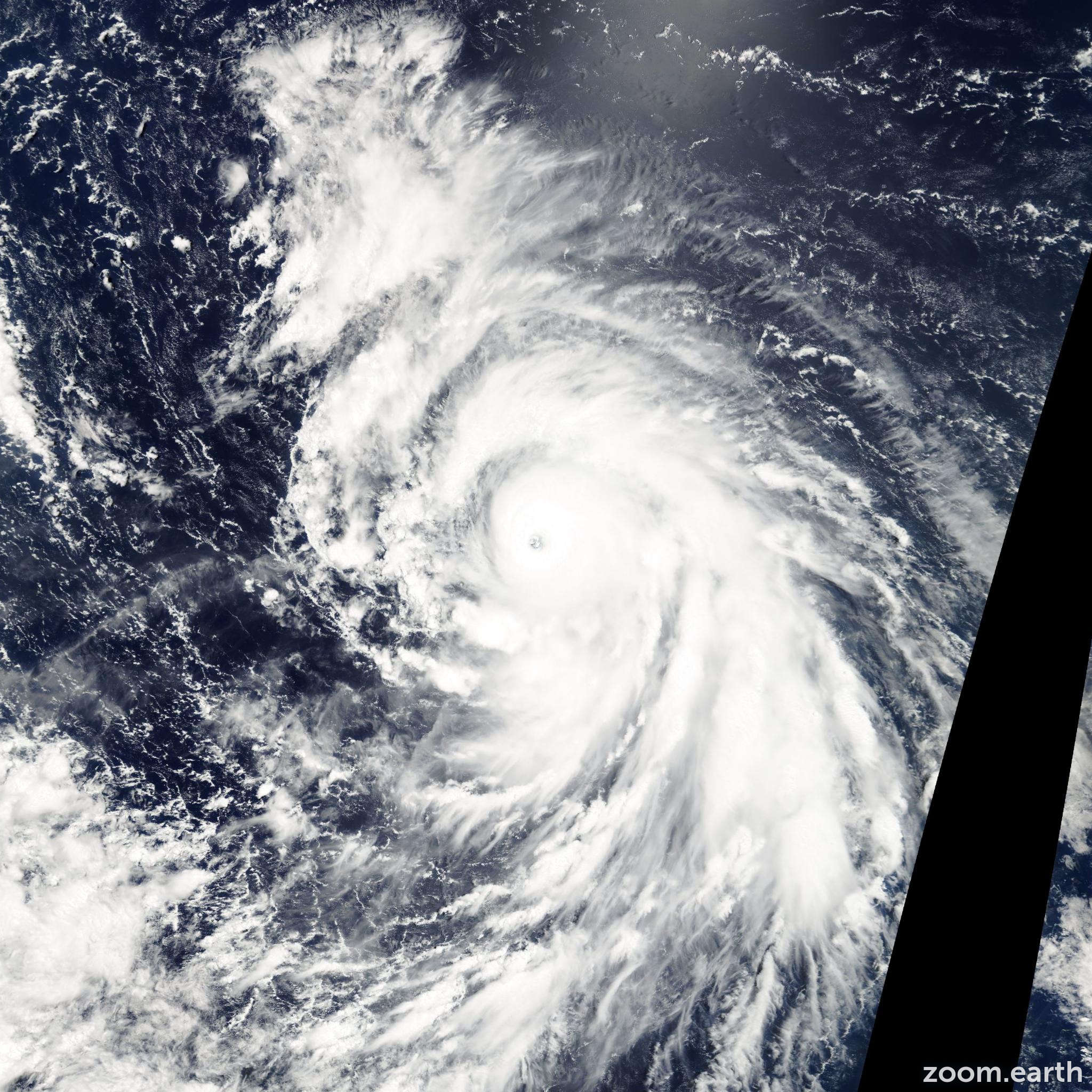 Satellite image of Typhoon Fengshen 2002