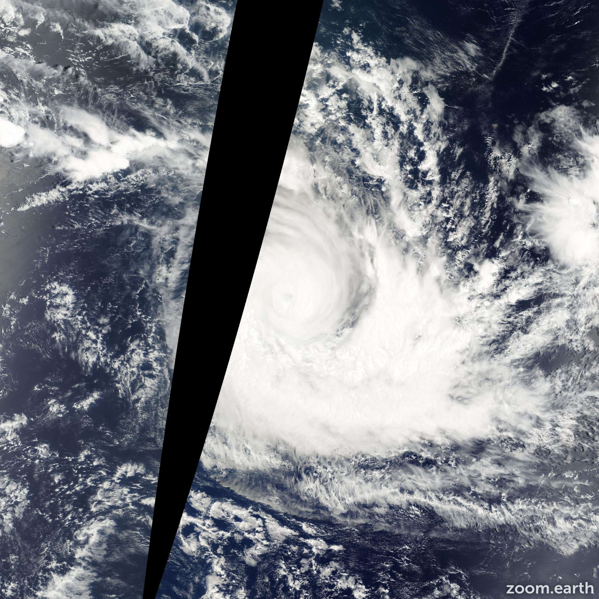 Satellite image of Cyclone Francesca 2002