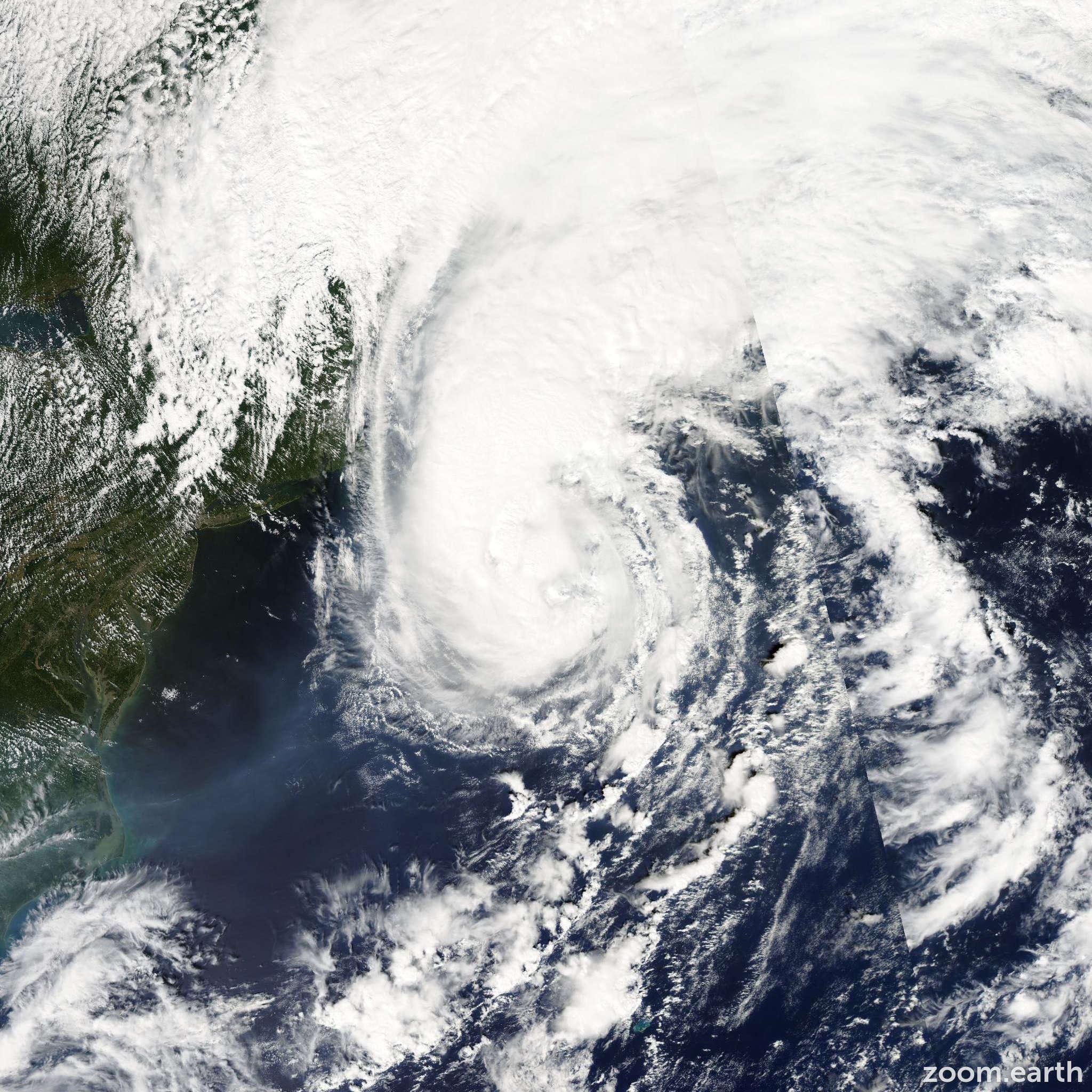 Satellite image of Hurricane Gustav 2002
