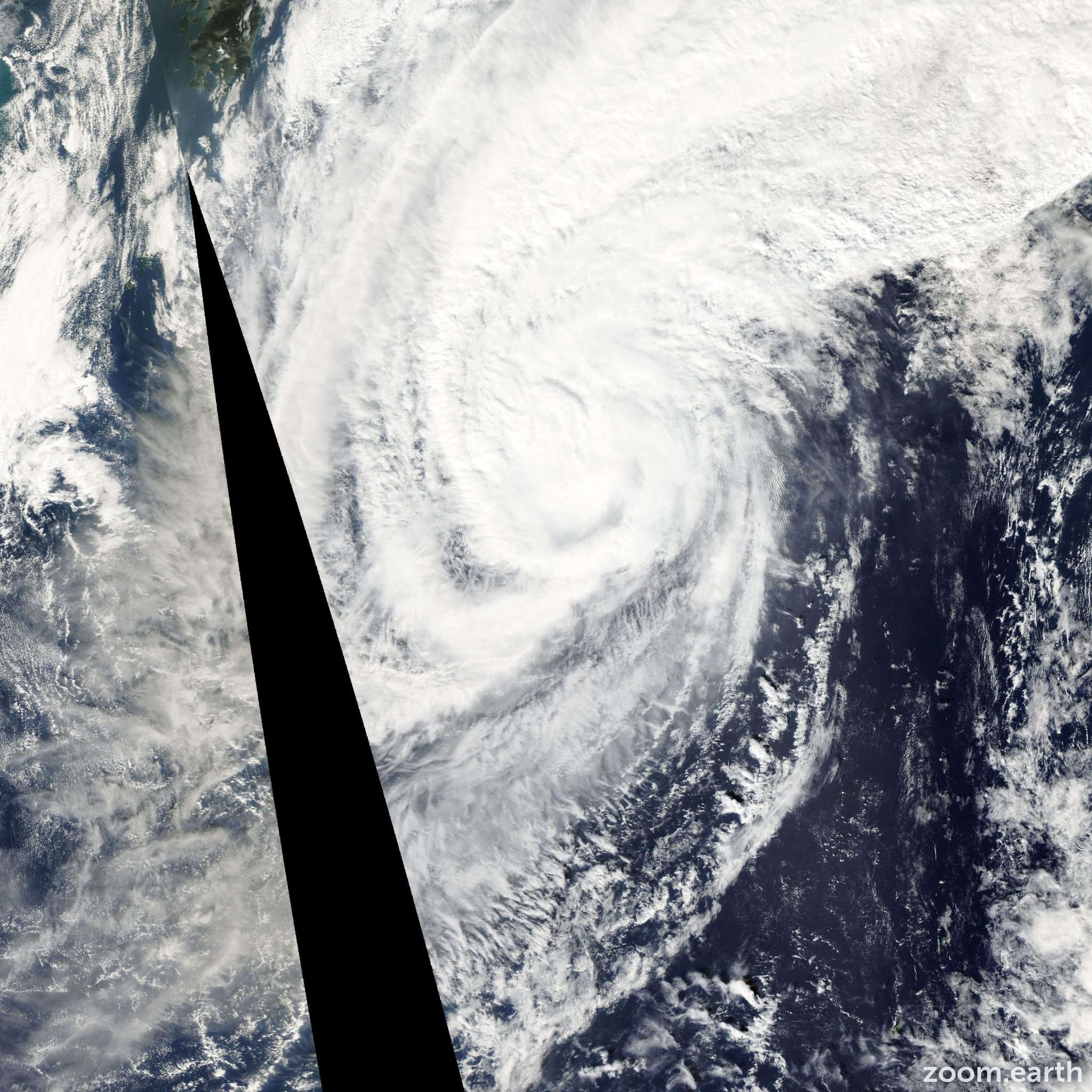 Satellite image of Typhoon Haishen 2002