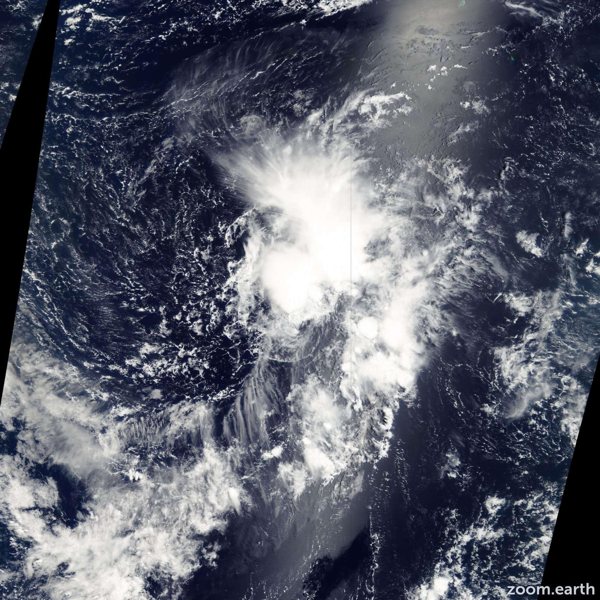 Satellite image of Depression Kalmaegi 2002