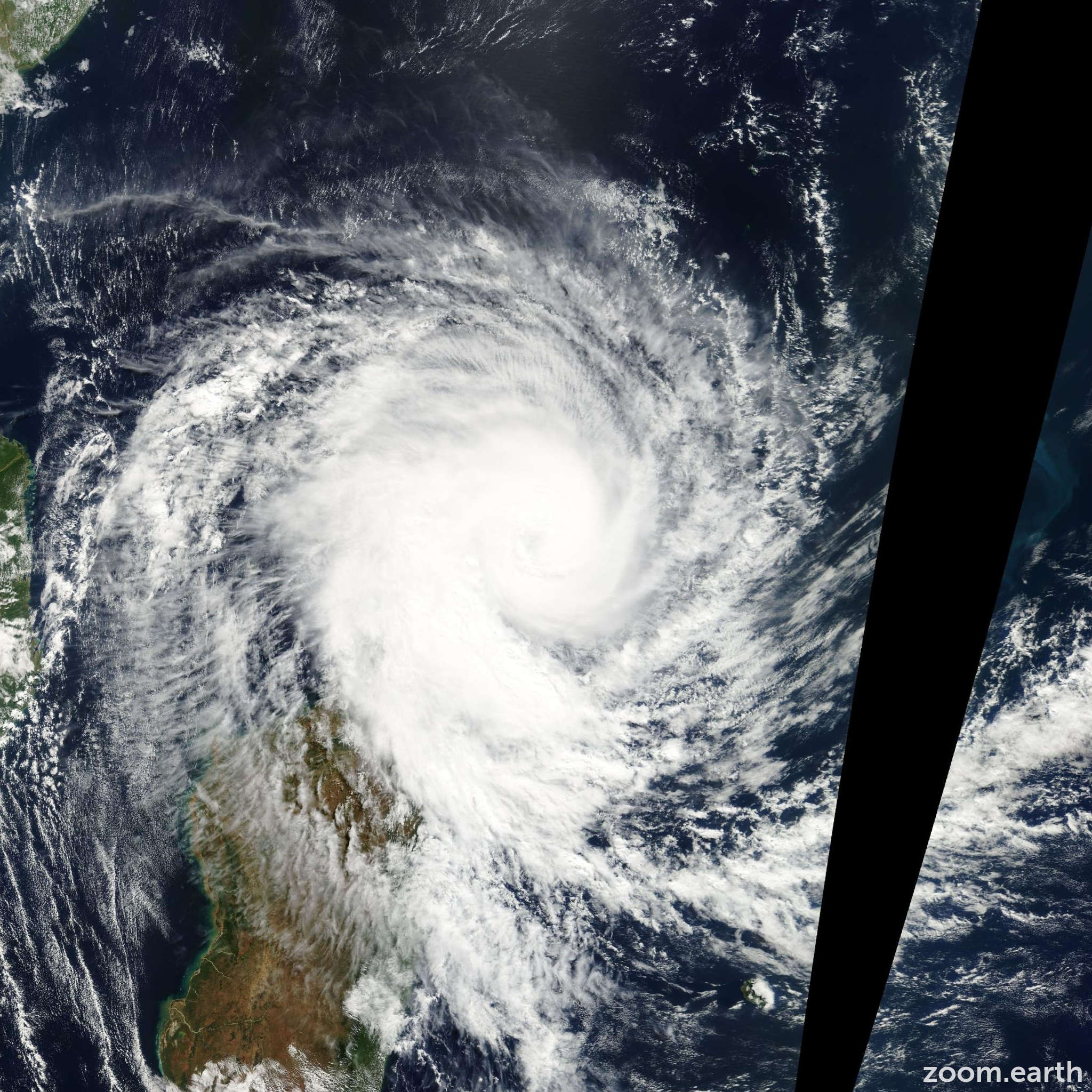 Satellite image of Storm Kesiny 2002