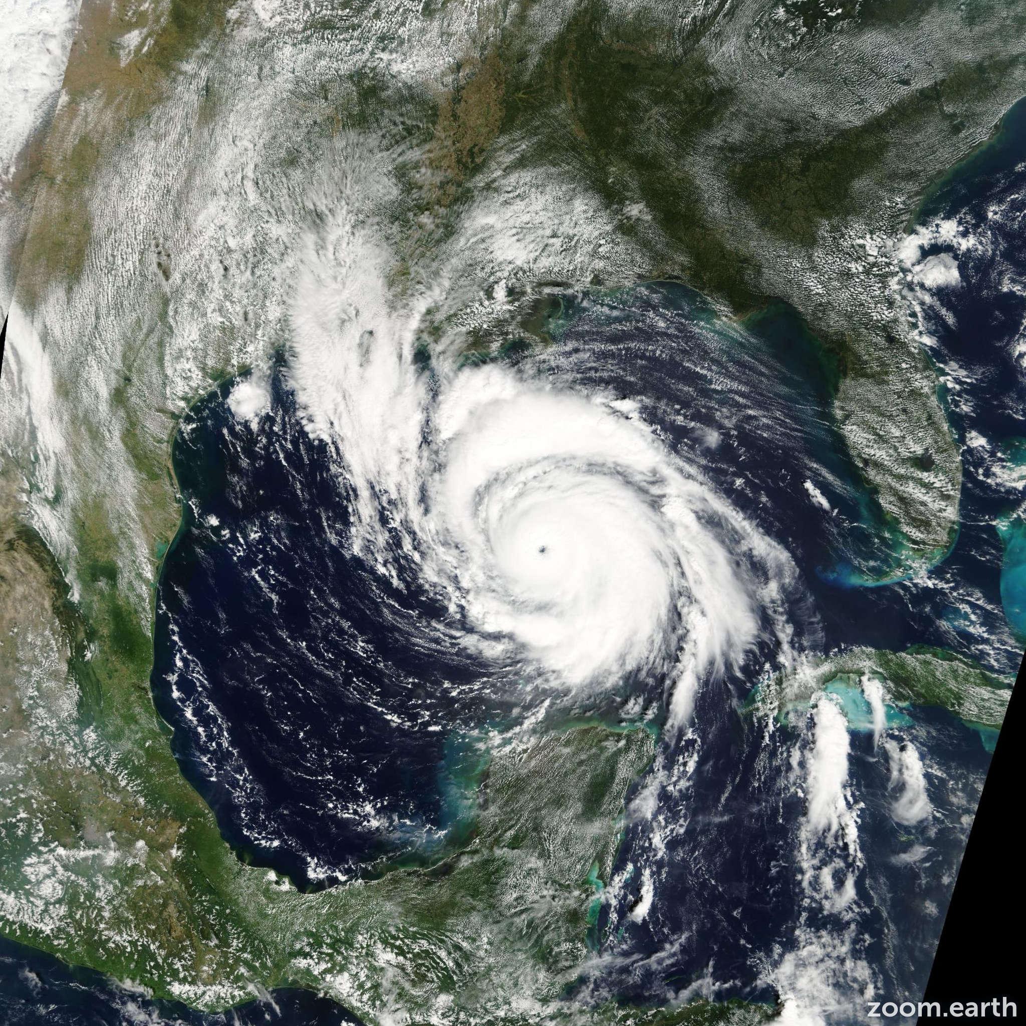 Satellite image of Hurricane Lili 2002