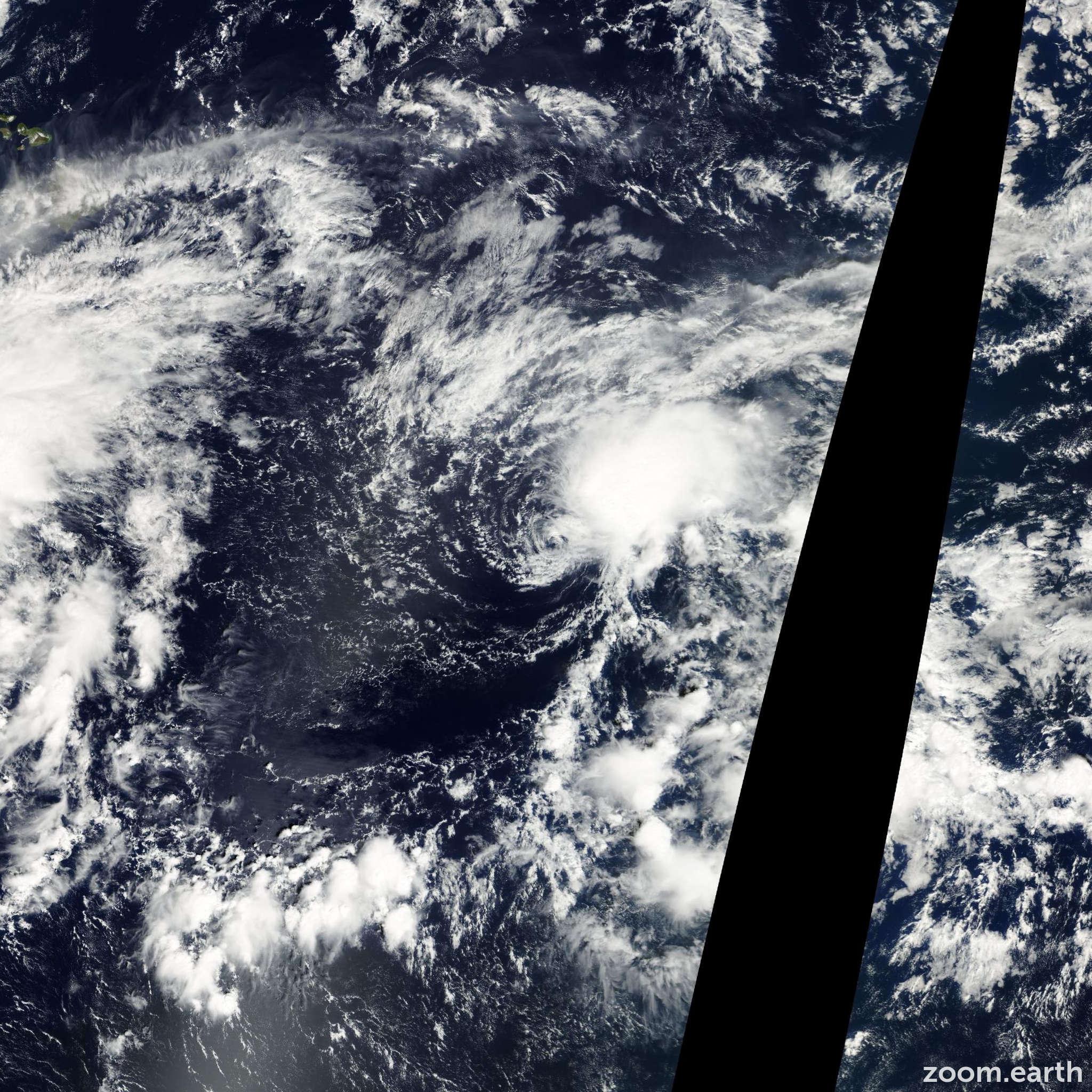 Satellite image of Storm Lowell 2002