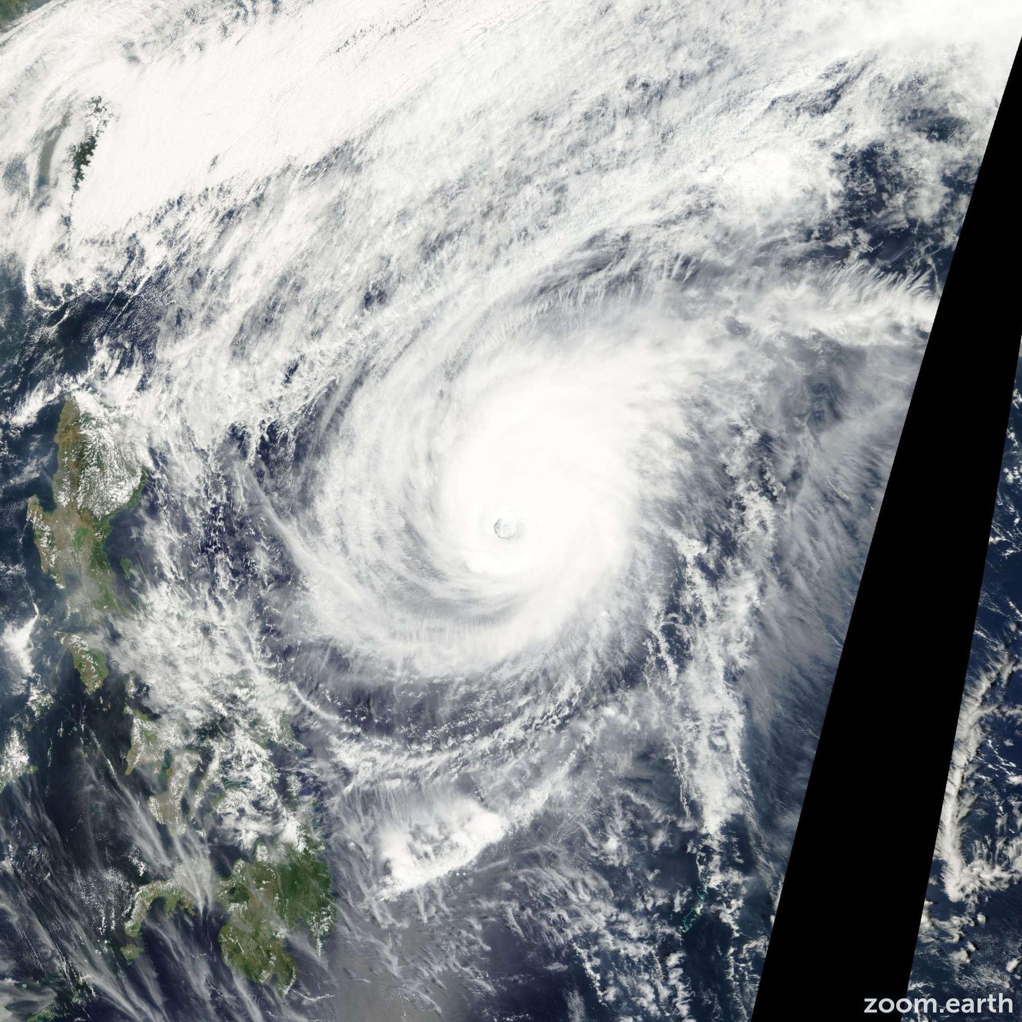 Satellite image of Typhoon Mitag 2002