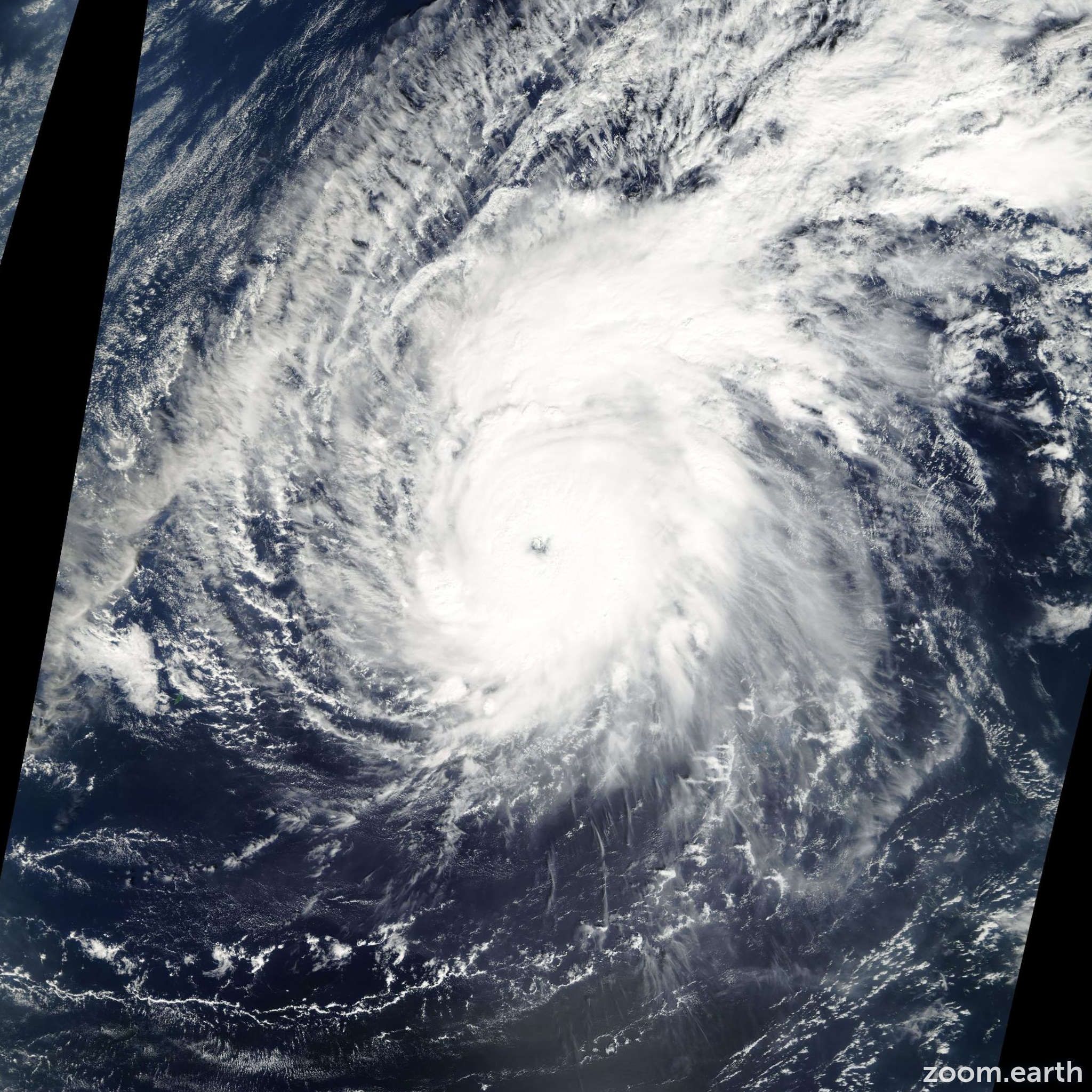 Satellite image of Typhoon Pongsona 2002