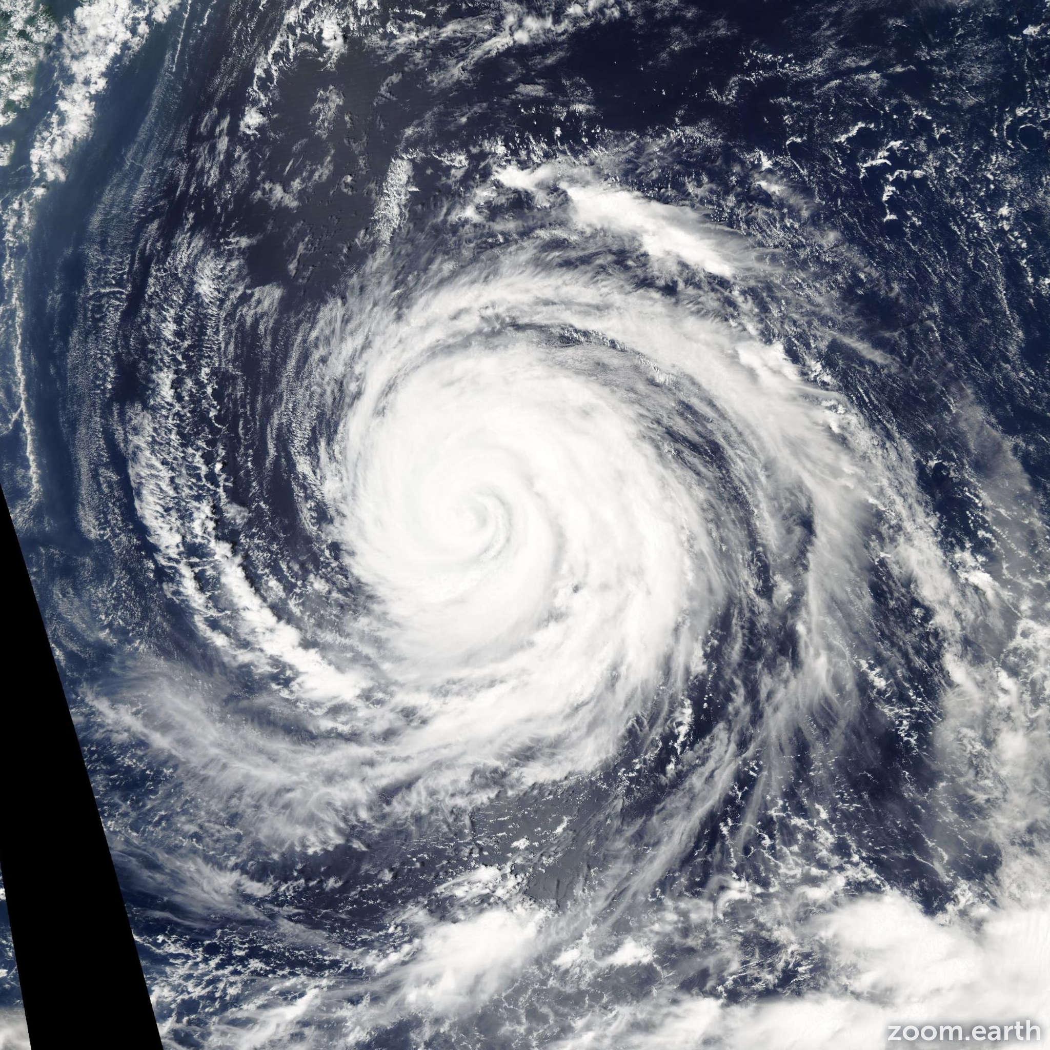 Satellite image of Typhoon Rusa 2002