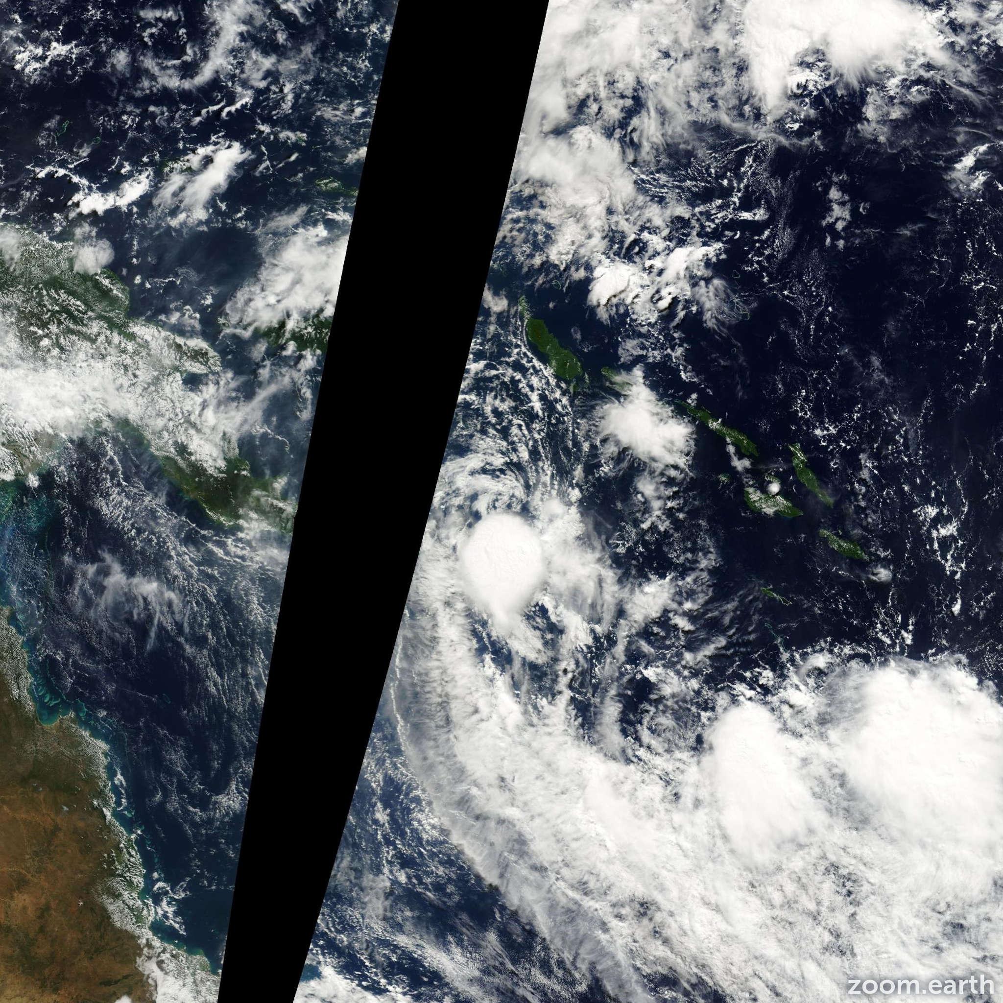 Satellite image of Cyclone Upia 2002