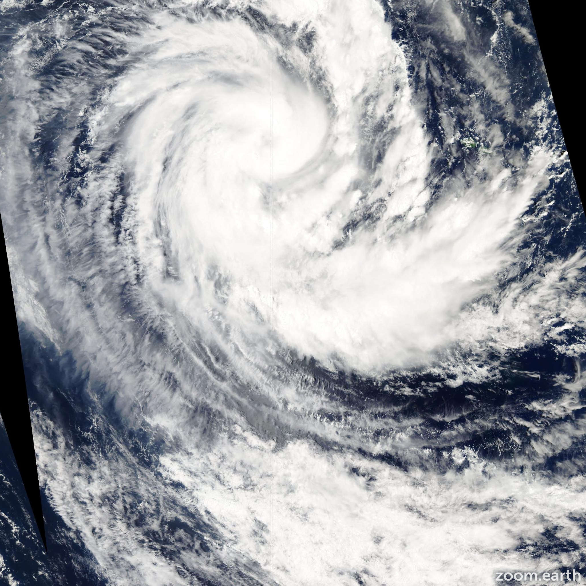 Satellite image of Cyclone Ami 2003
