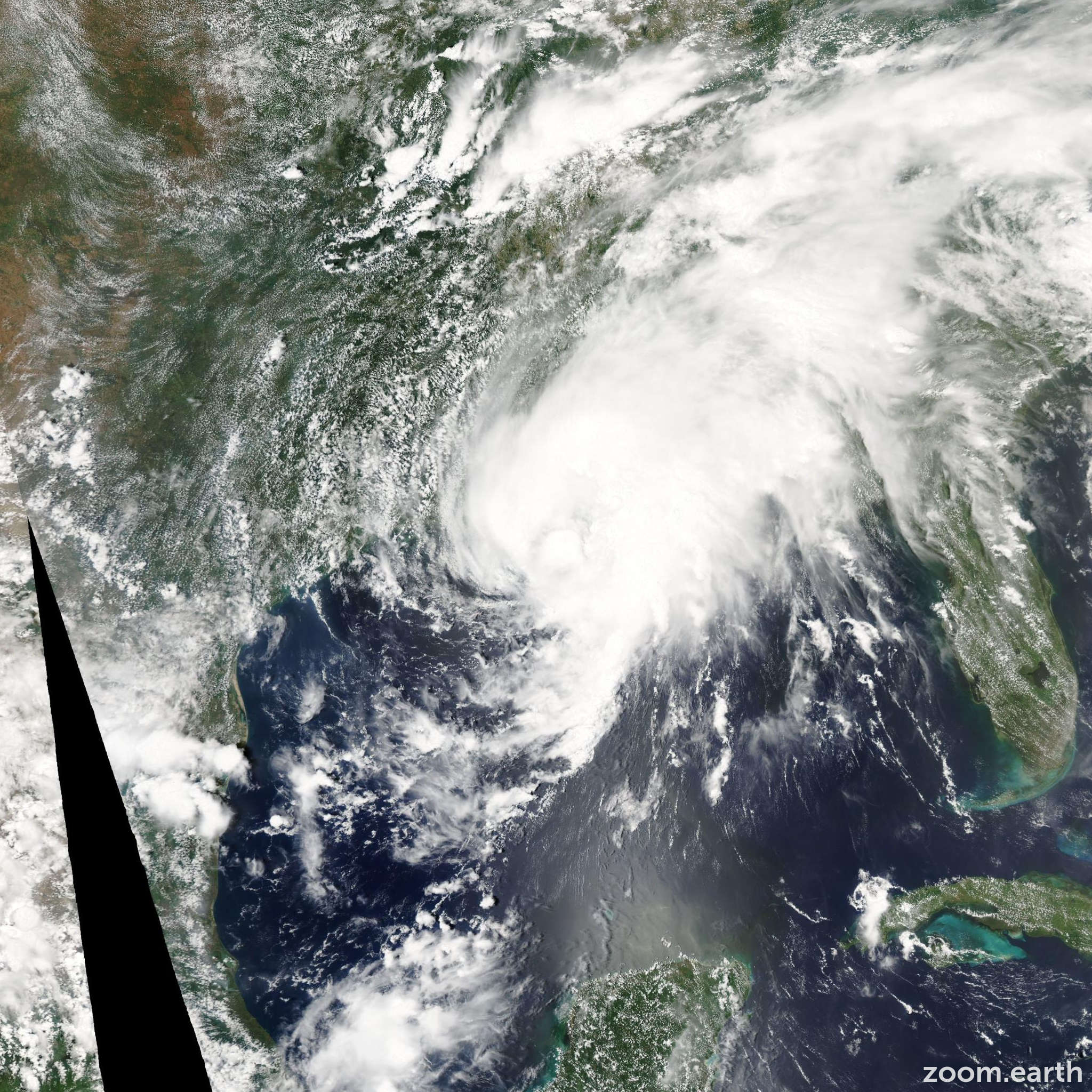 Satellite image of Storm Bill 2003