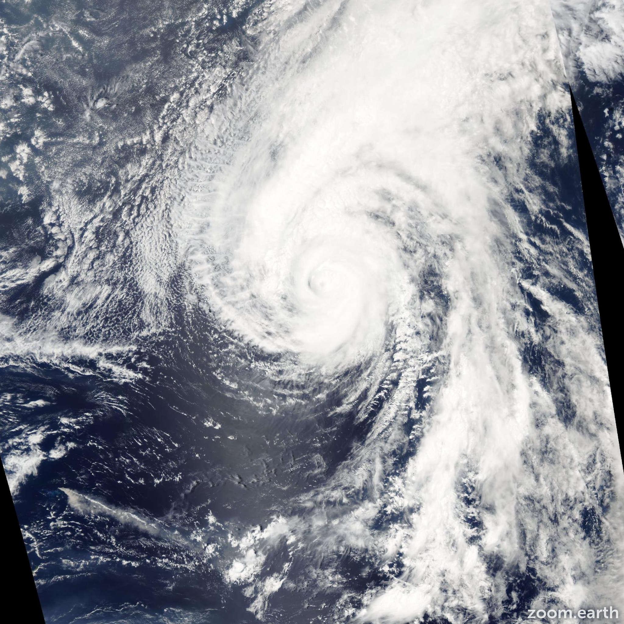 Satellite image of Typhoon Chan-Hom 2003