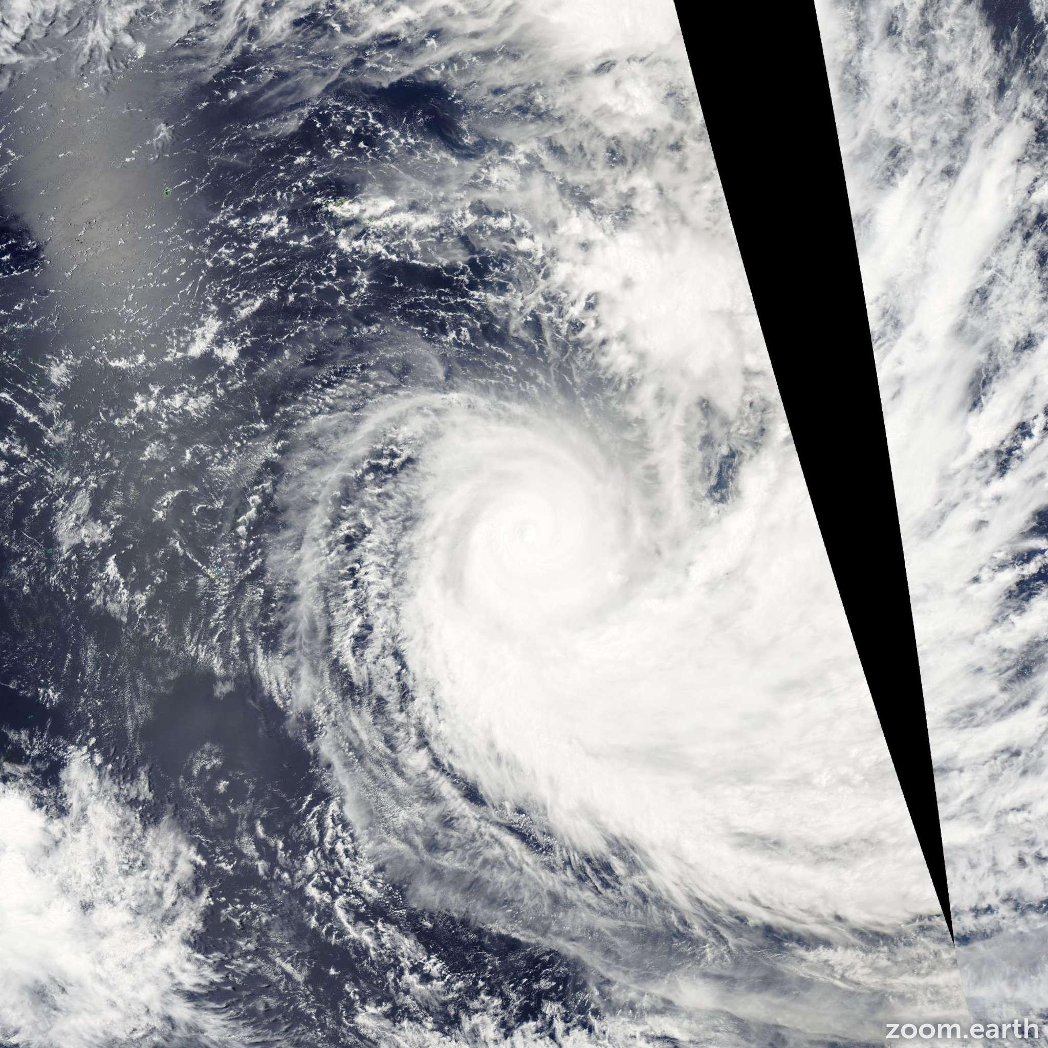 Satellite image of Cyclone Dovi 2003