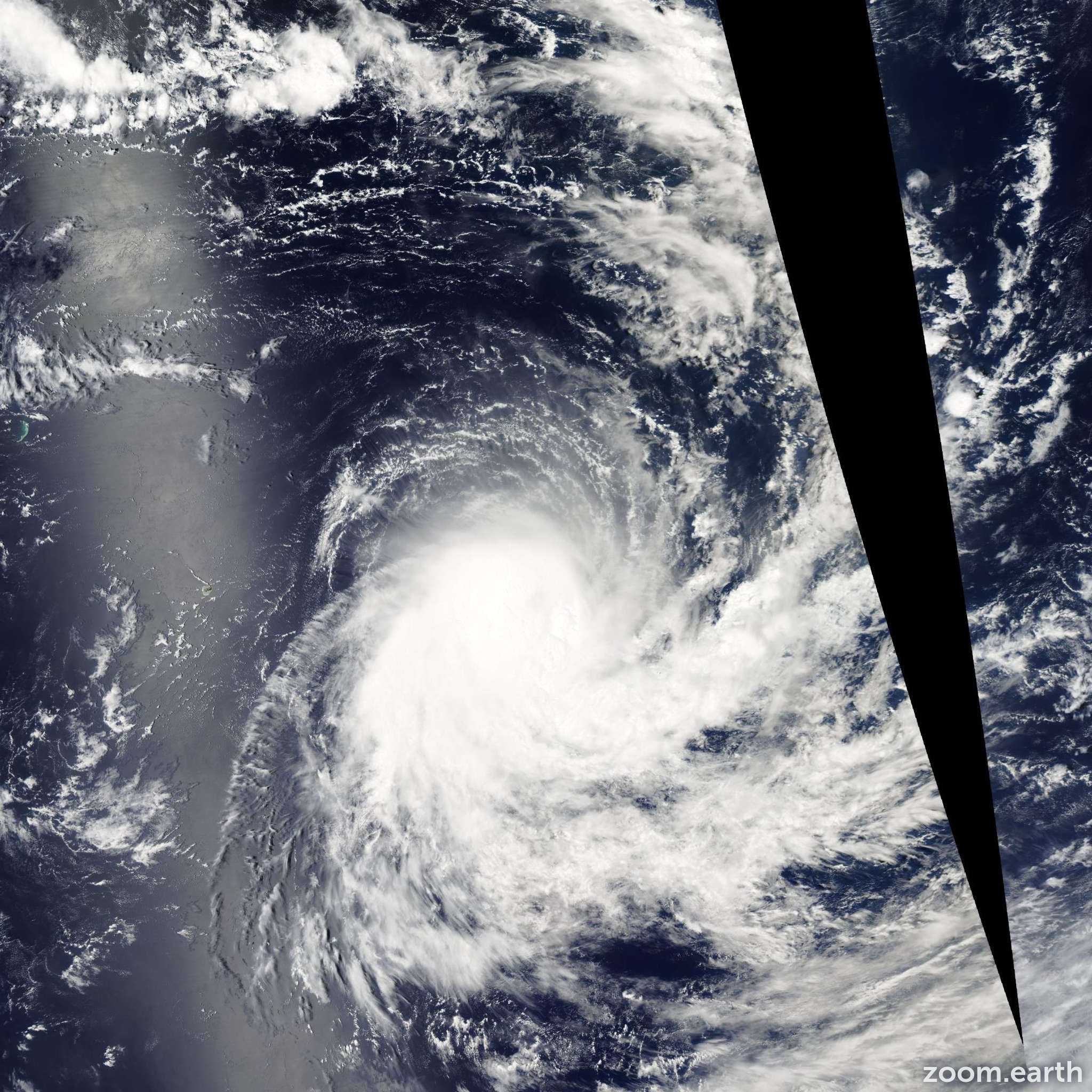 Satellite image of Storm Ebula 2003