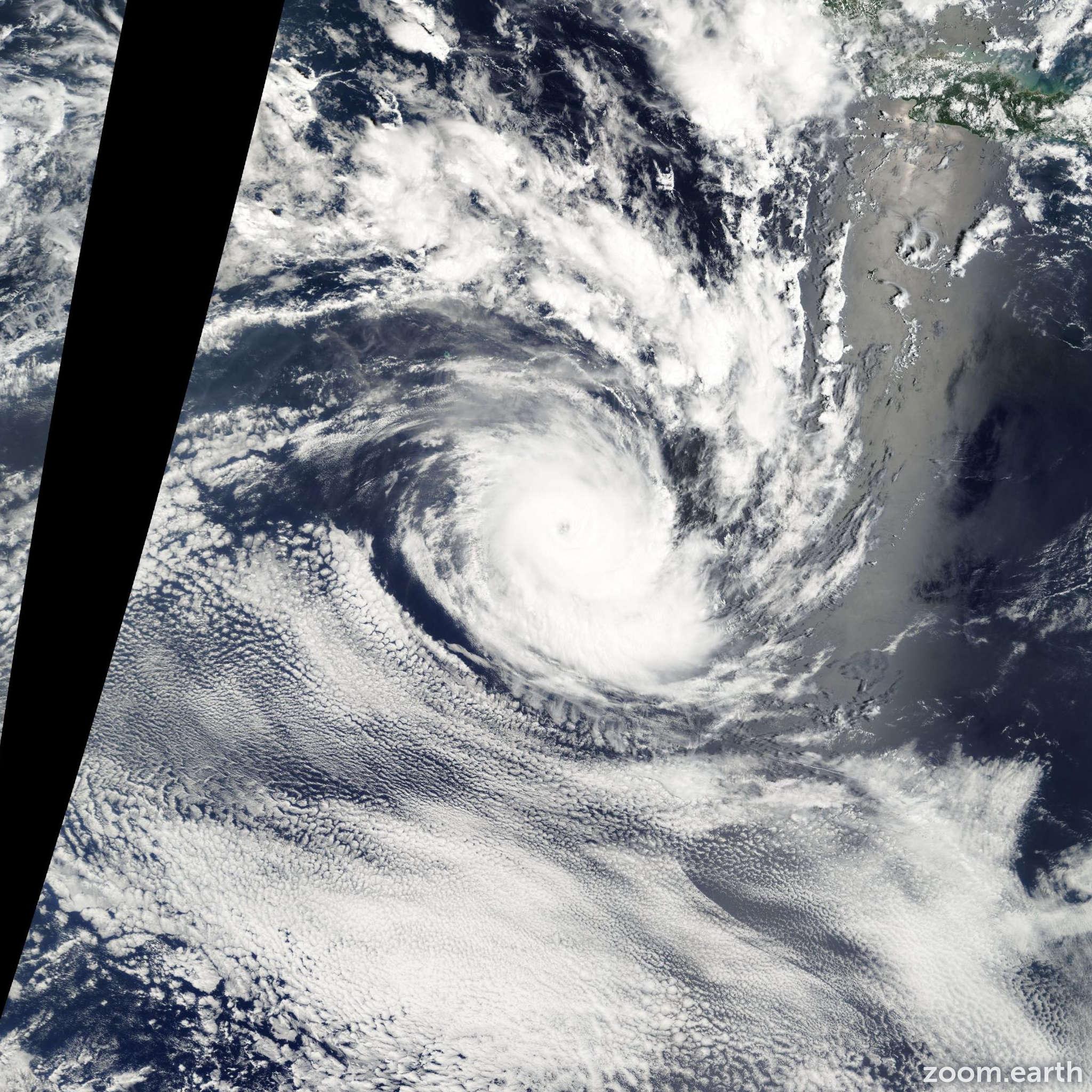 Satellite image of Cyclone Fiona 2003