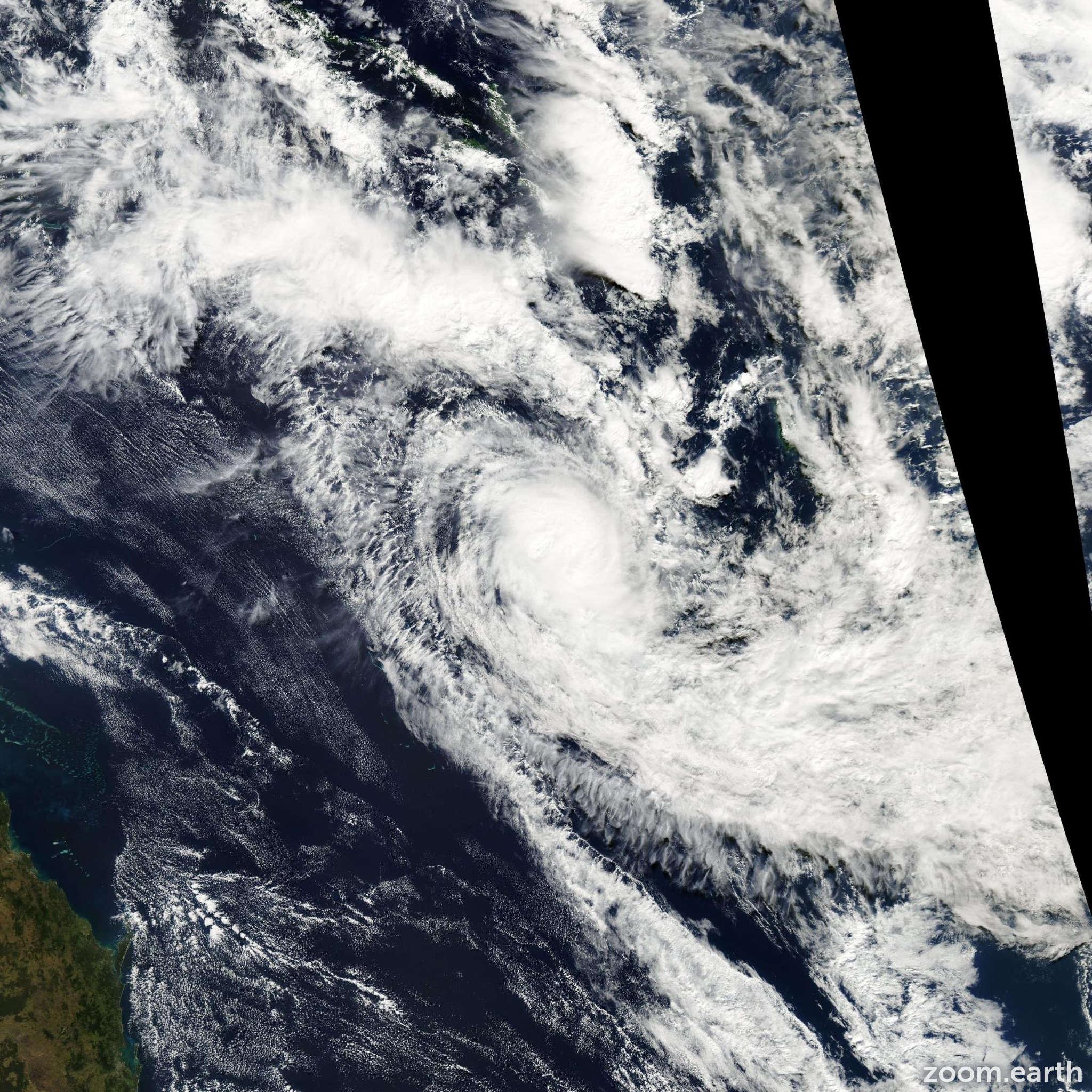 Satellite image of Cyclone Gina 2003